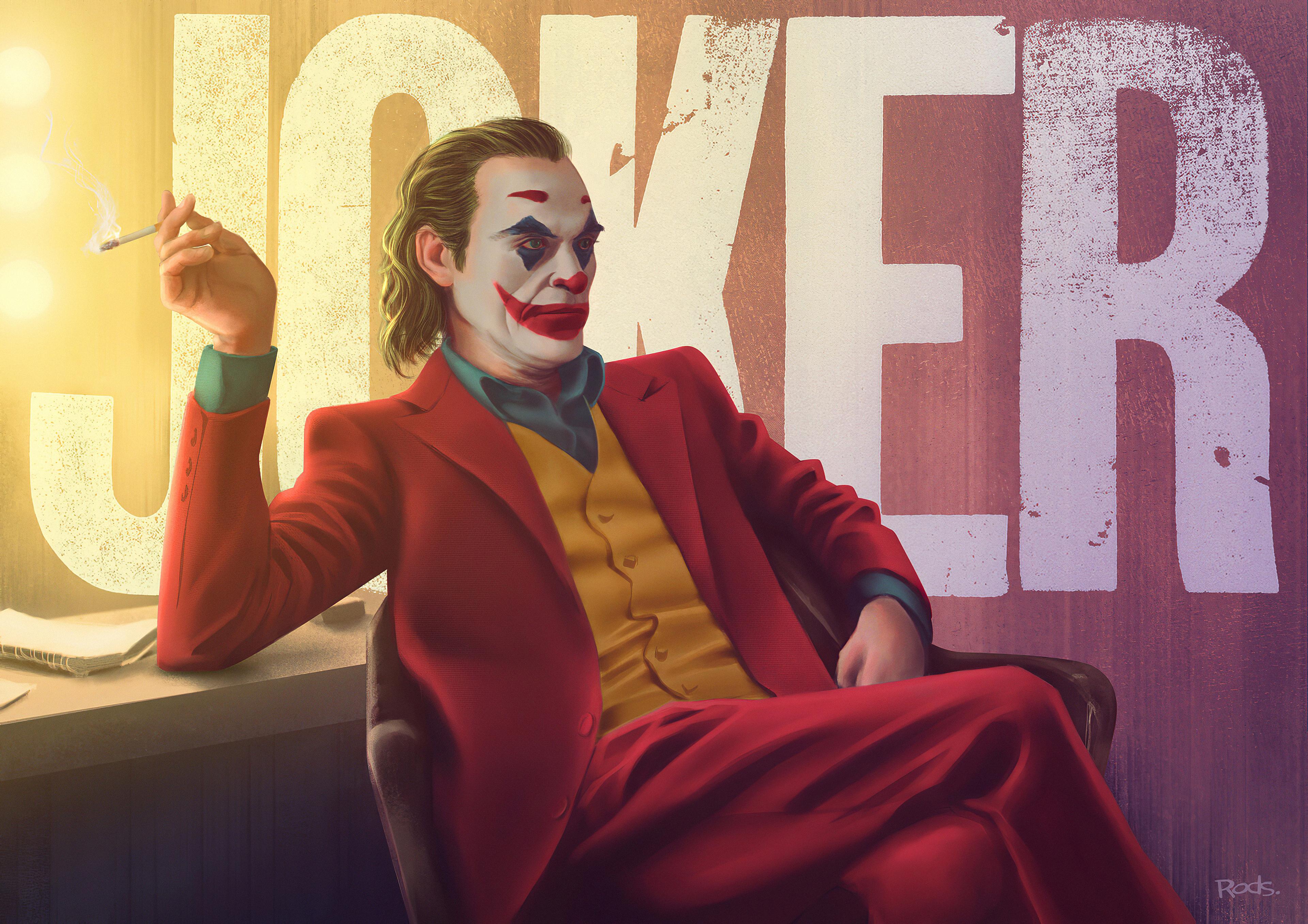 joker smoking art 1576089126 - Joker Smoking art - Joker Smoking wallpaper hd 4k