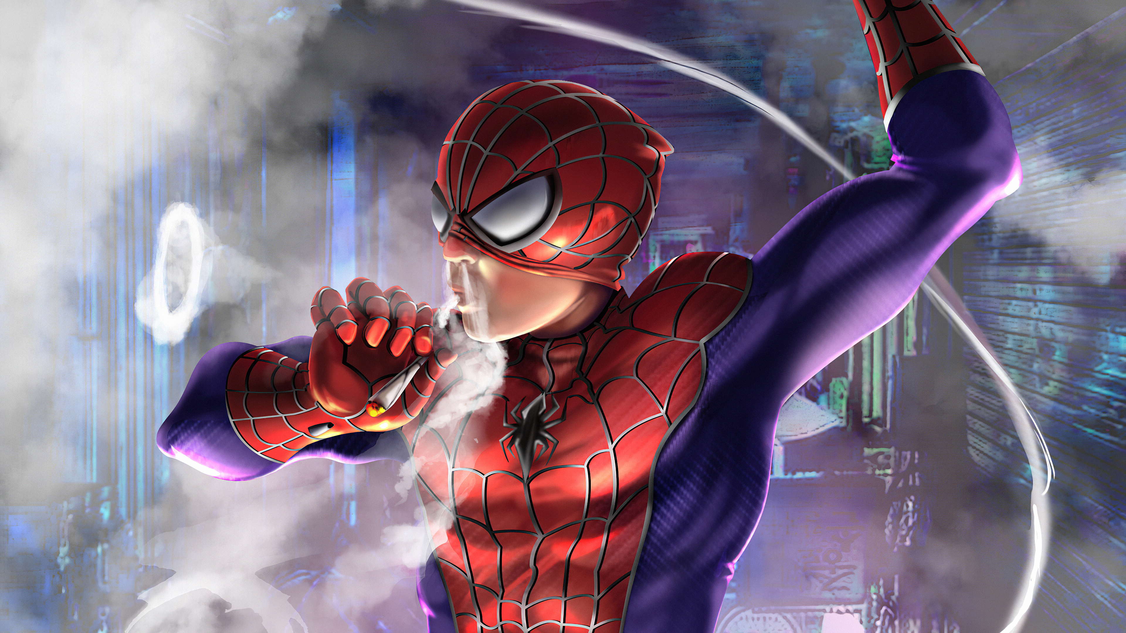 smoker spiderman art 1576091226 - Smoker Spiderman art - Spiderman Smoker wallpaper hd 4k, Smoker spiderman 4k wallpaper