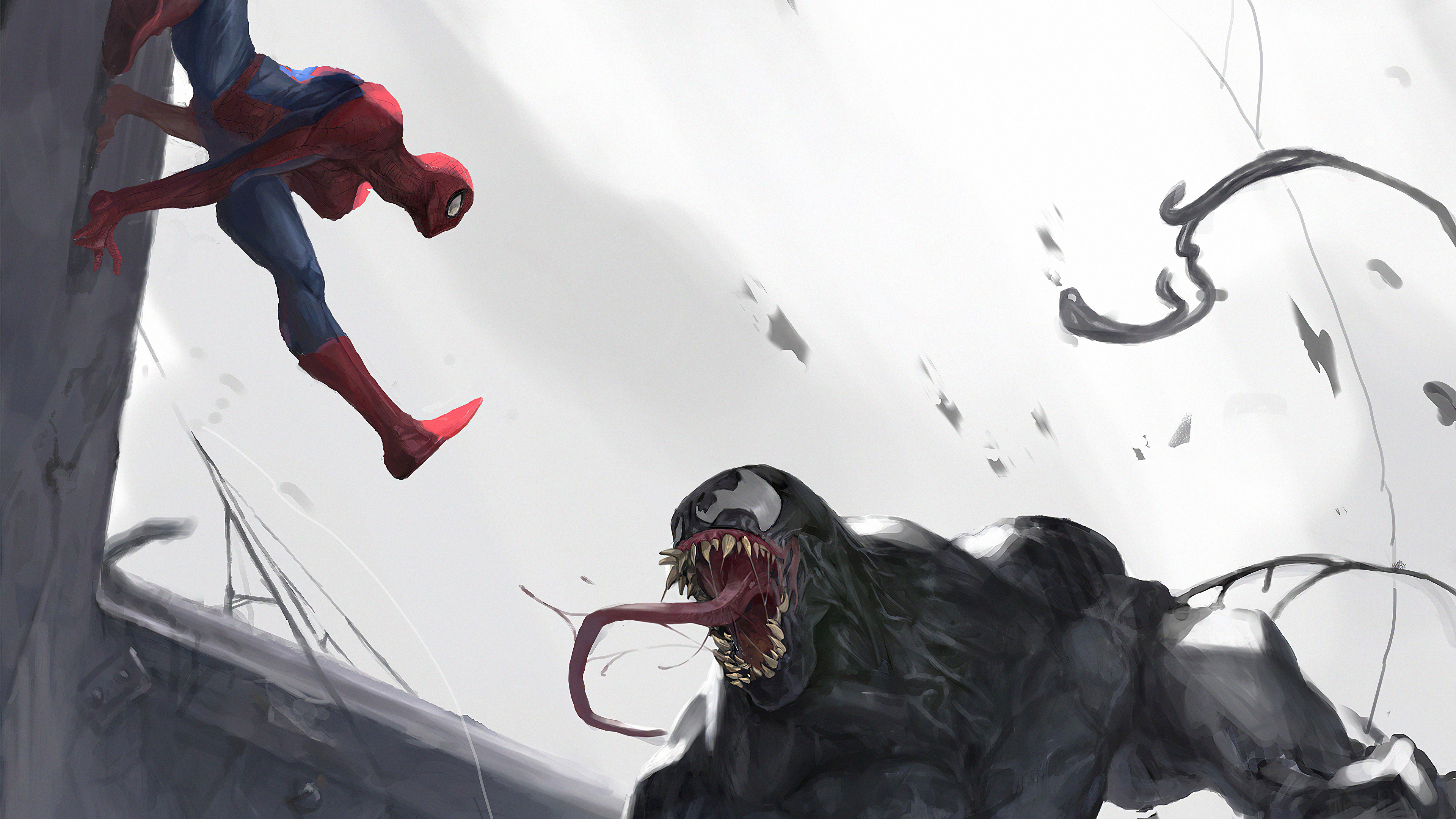 spider man vs venom art 1576097617 - Spider Man Vs Venom Art - Venom Vs Spider Man 4k wallpaper, Spider Man Vs Venom 4k wallpaper