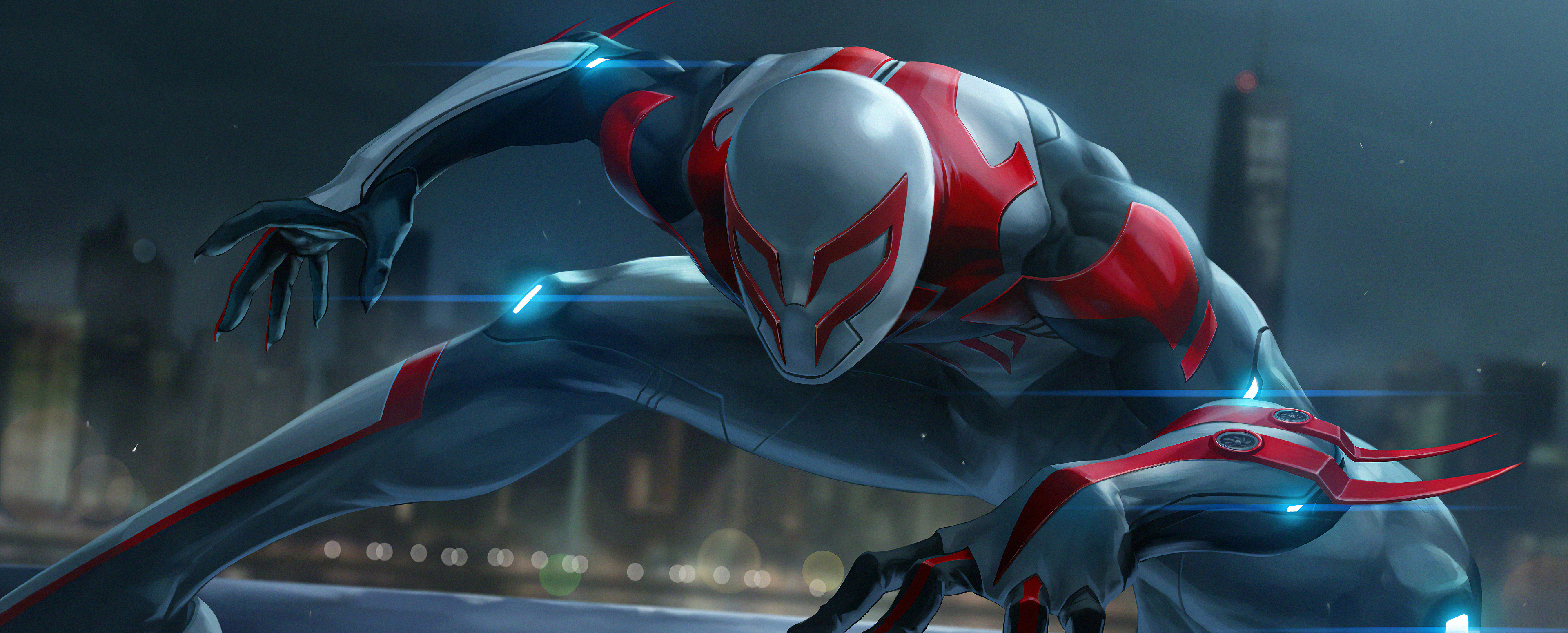 Wallpaper 4k Spiderman 2099 Marel Future Fight Spiderman 2099 Hd