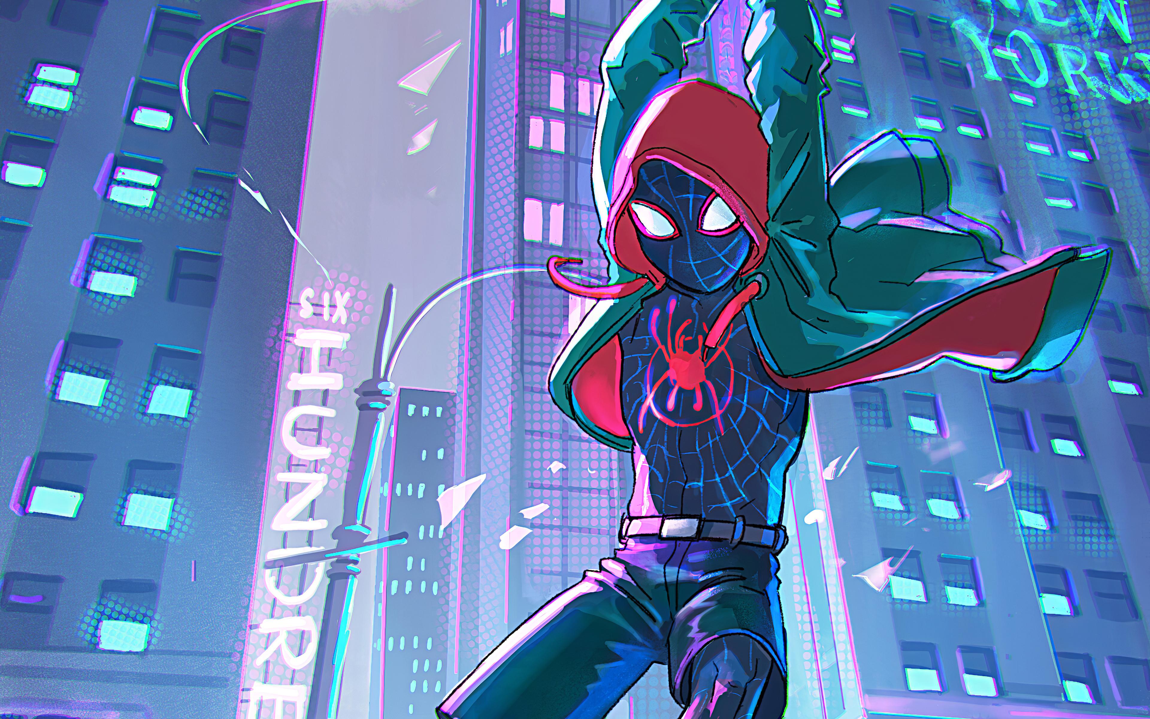 Wallpaper 4k Spiderman Into The Spider Verse Art Spider Man 4k