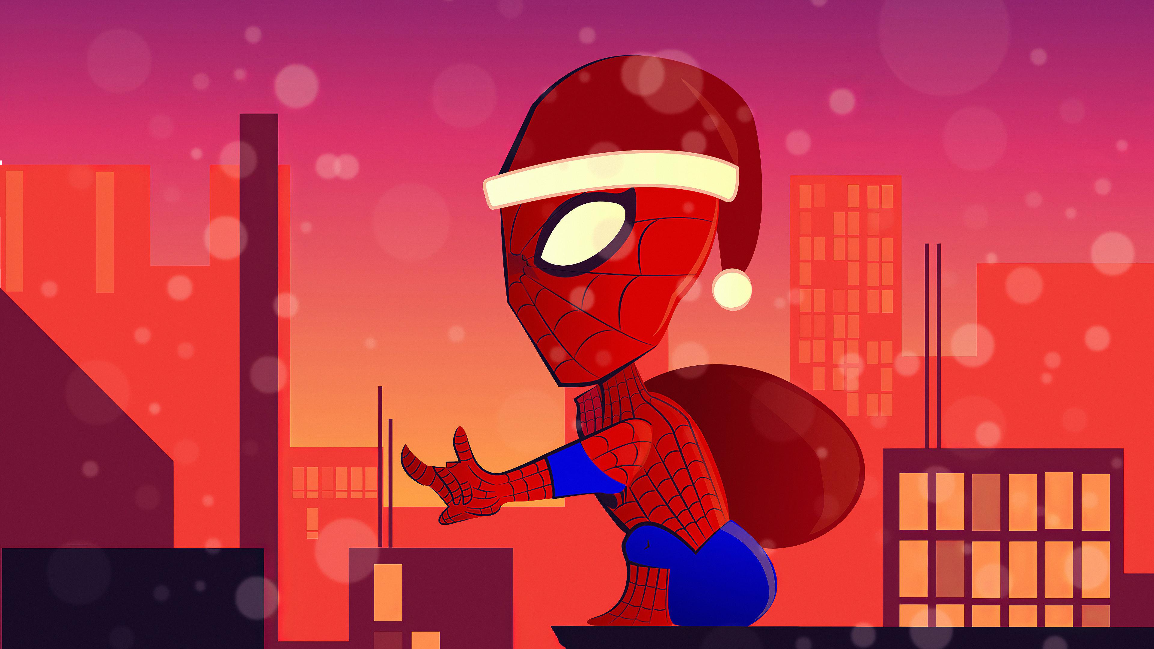 spiderman santa claus 1576088819 - Spiderman Santa Claus - Spiderman Santa hd 4k wallpaper