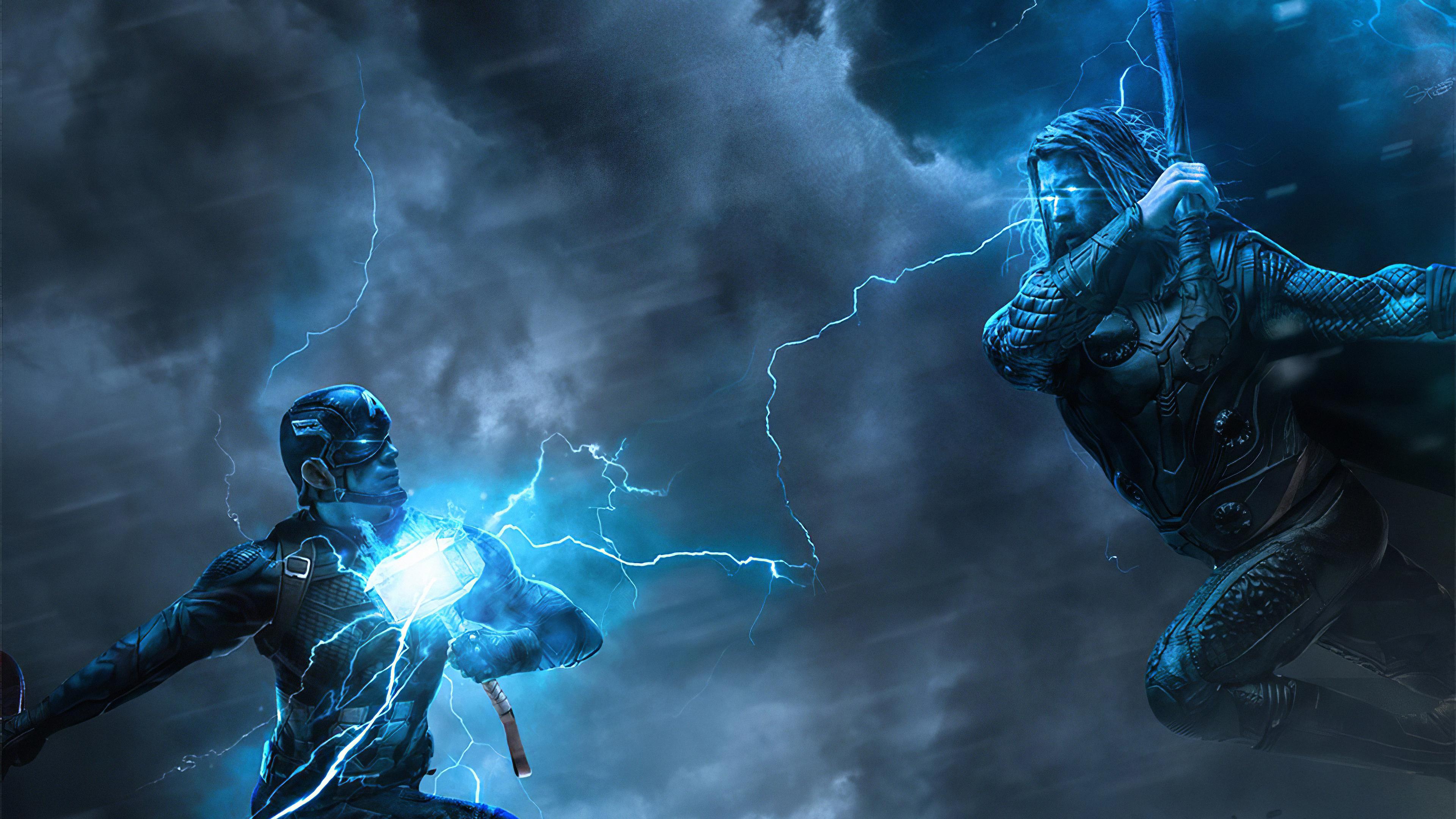 thor vs captain america art 1576090678 - Thor Vs Captain America Art - Thor vs Captain America hd 4k wallpaper, captain america vs thor 4k wallpaper