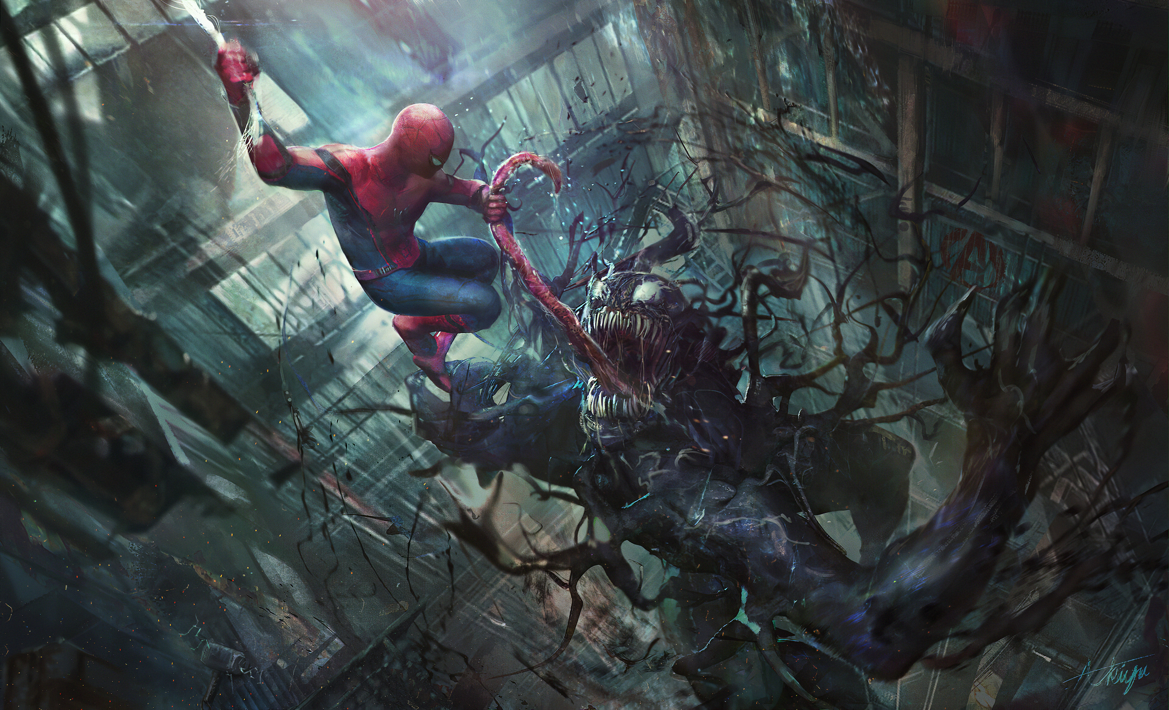 venom and spider man 1576096206 - Venom And Spider Man - Venom And Spider Man wallpaper hd 4k