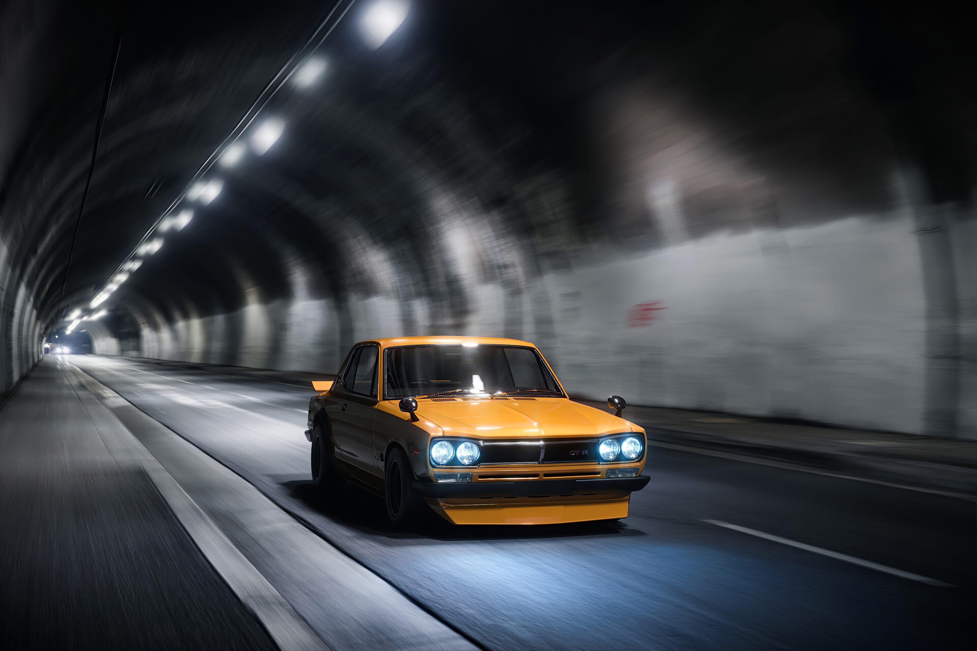 yellow gt modified car tunnel 1577653816 - Yellow Gt Modified Car Tunnel -