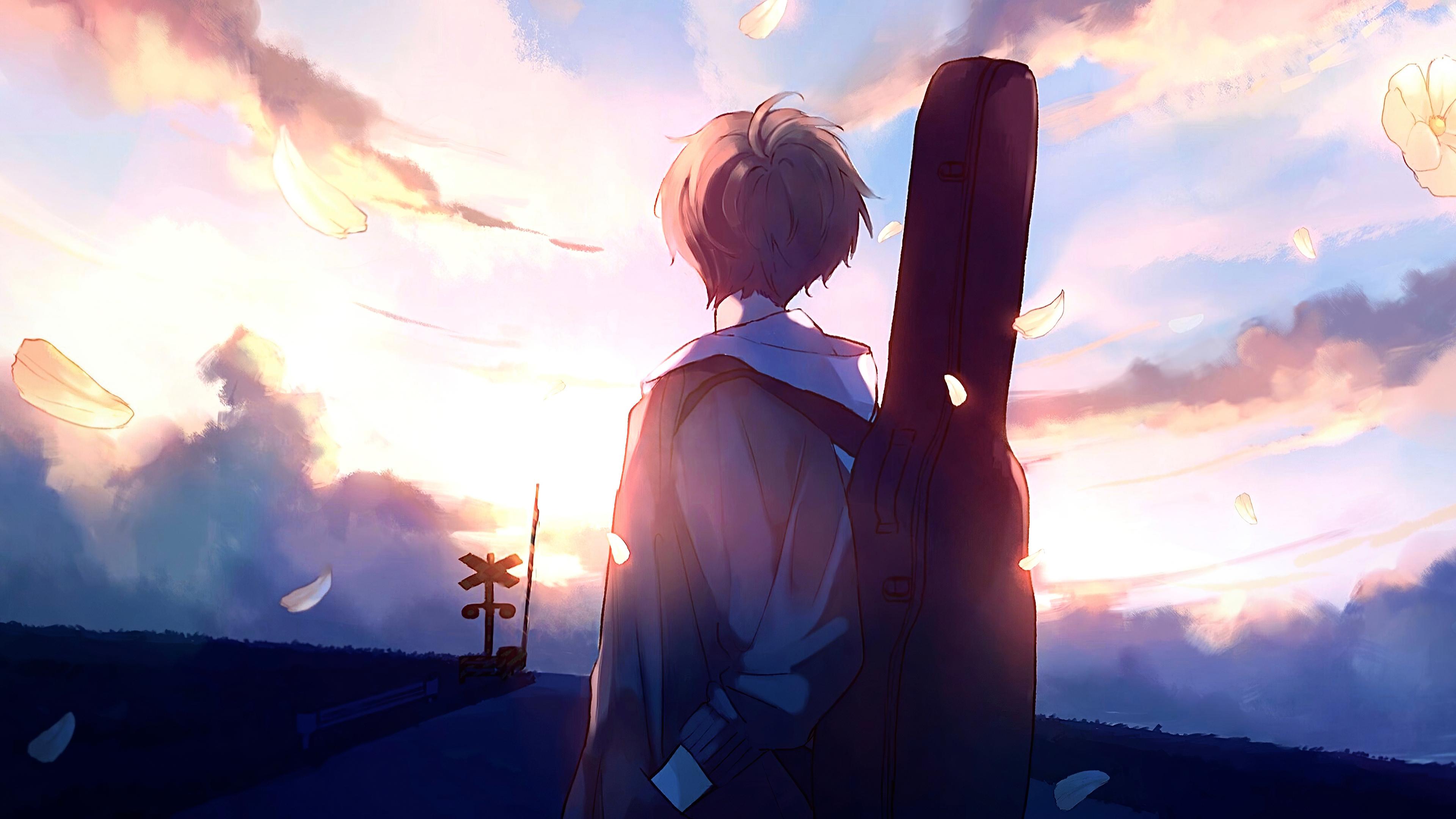 anime boy guitar painting 1578254418 - Anime Boy Guitar Painting -