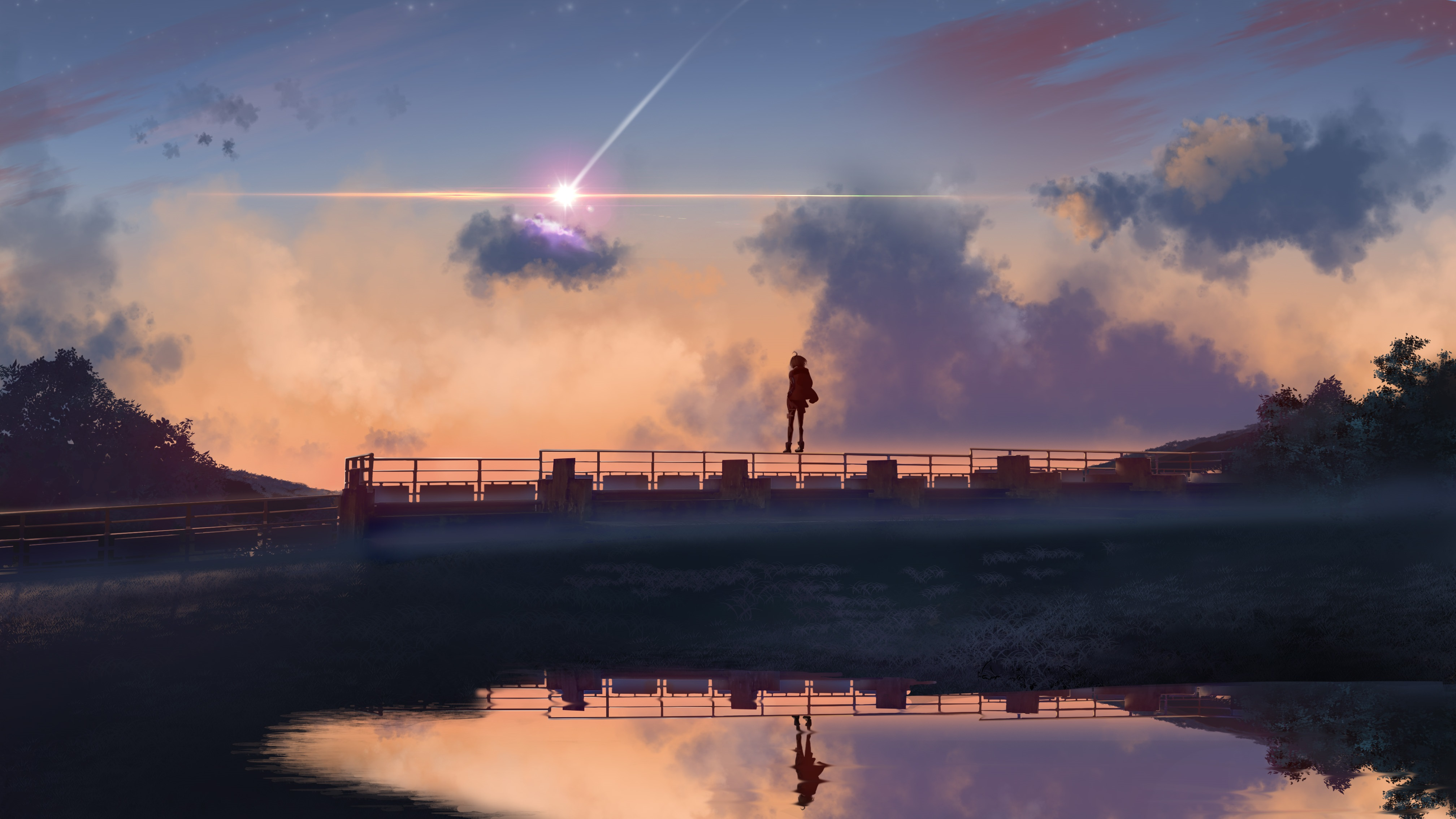 anime boy standing on bridge 1578254170 - Anime Boy Standing On Bridge -