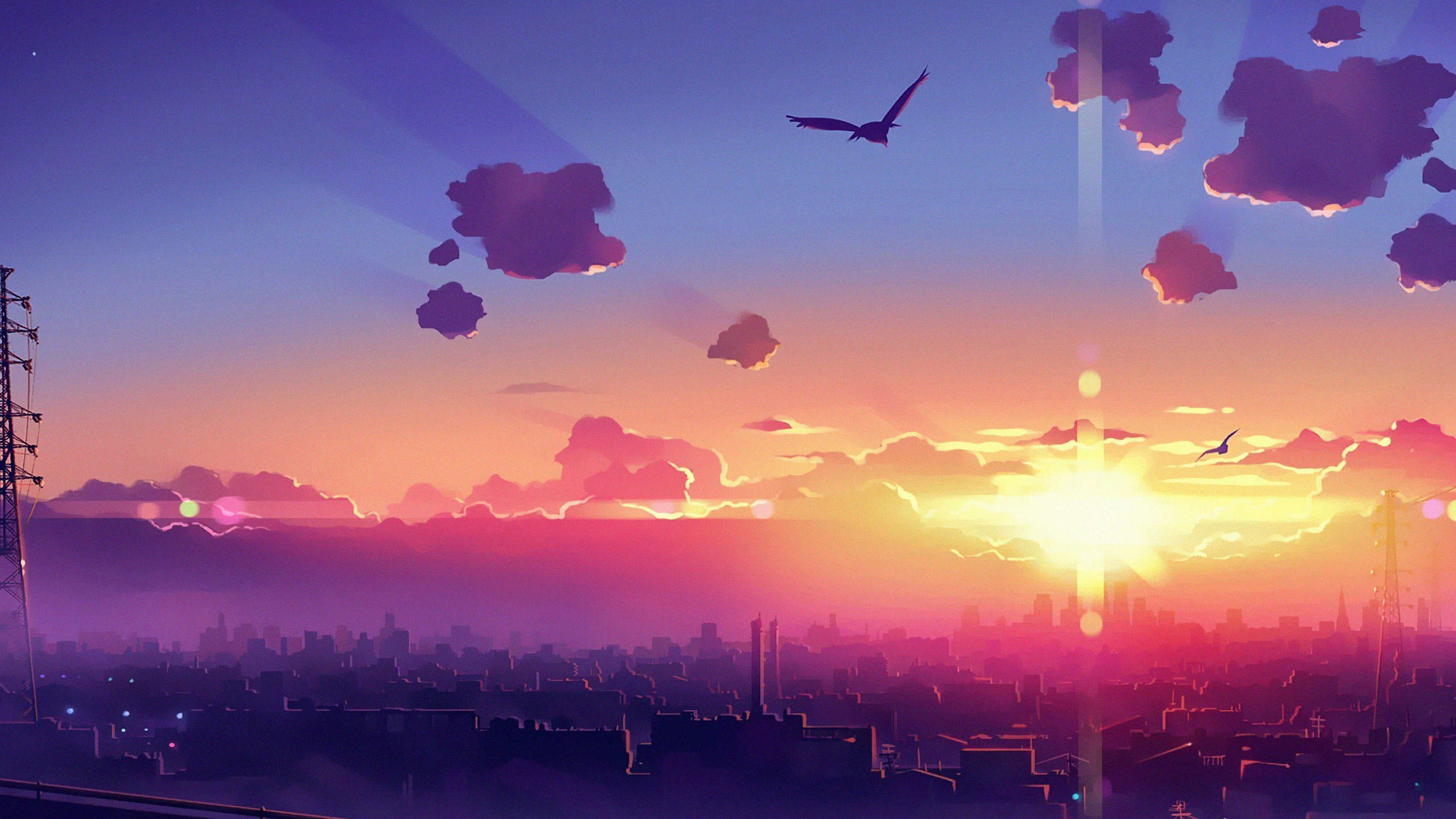 anime clouds birds flying 1578253706 - Anime Clouds Birds Flying -