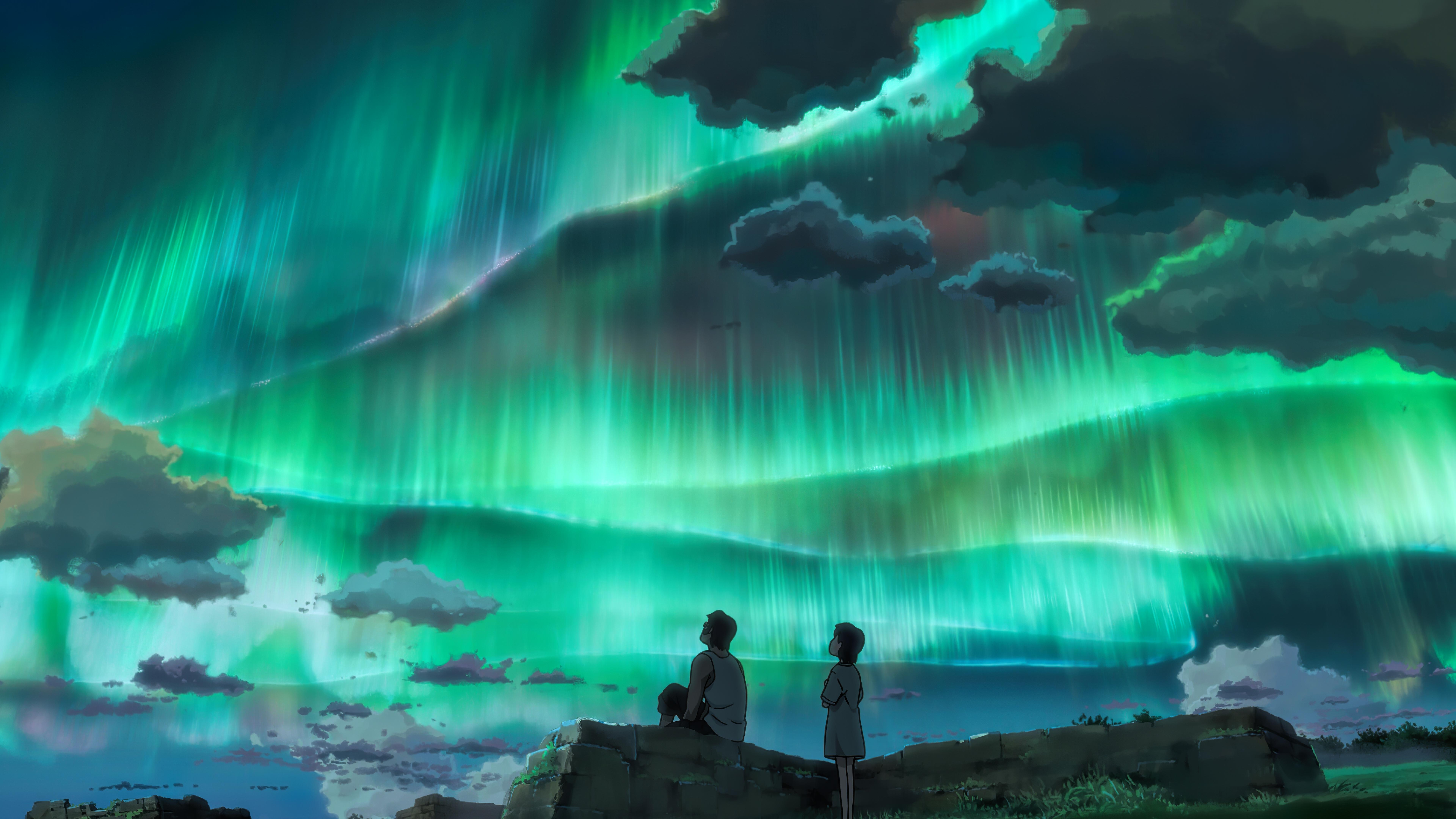 anime couple looking at aurora sky 1578253735 - Anime Couple Looking At Aurora Sky -