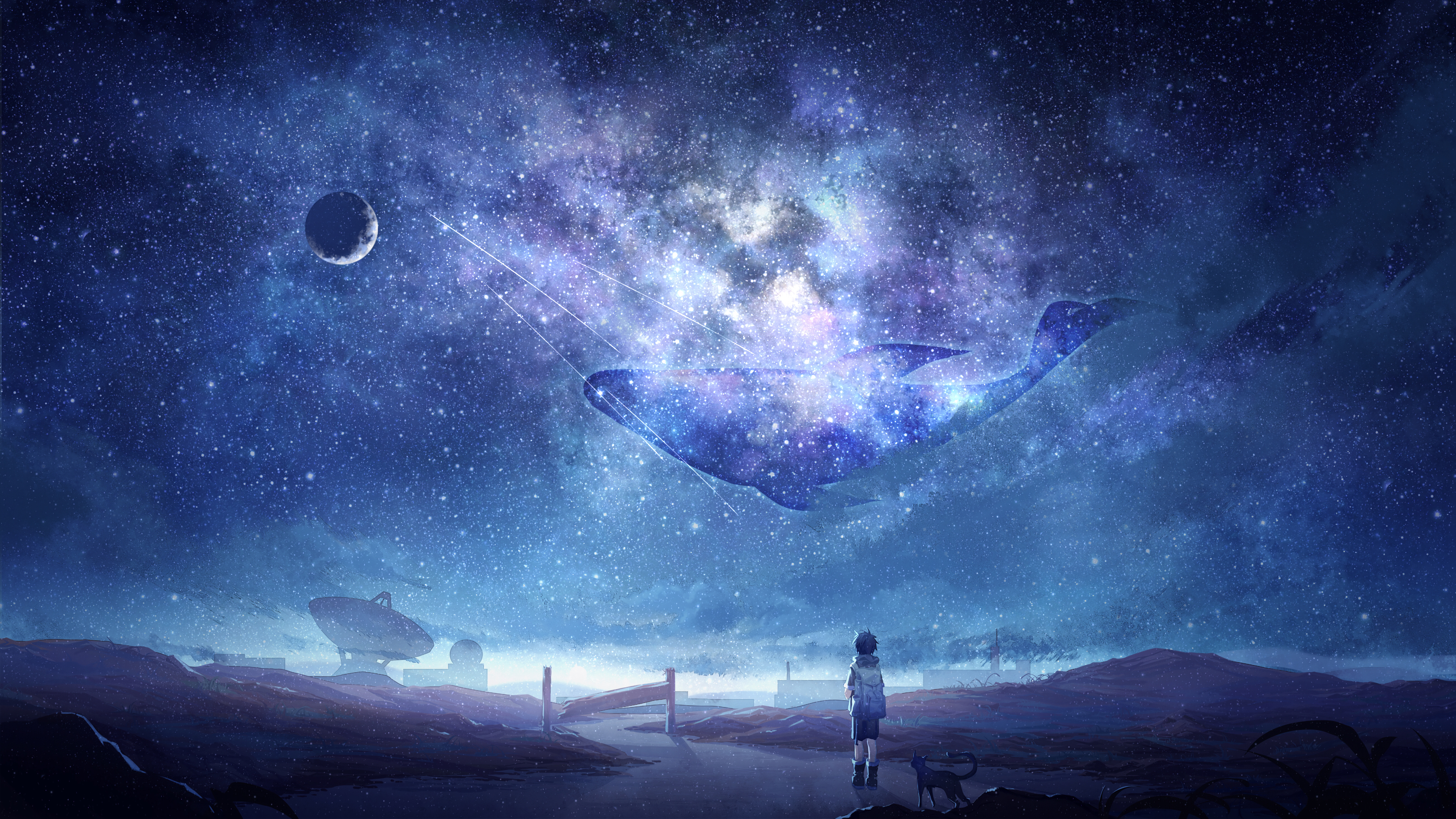 Wallpaper 4k Anime Fantasy Sky
