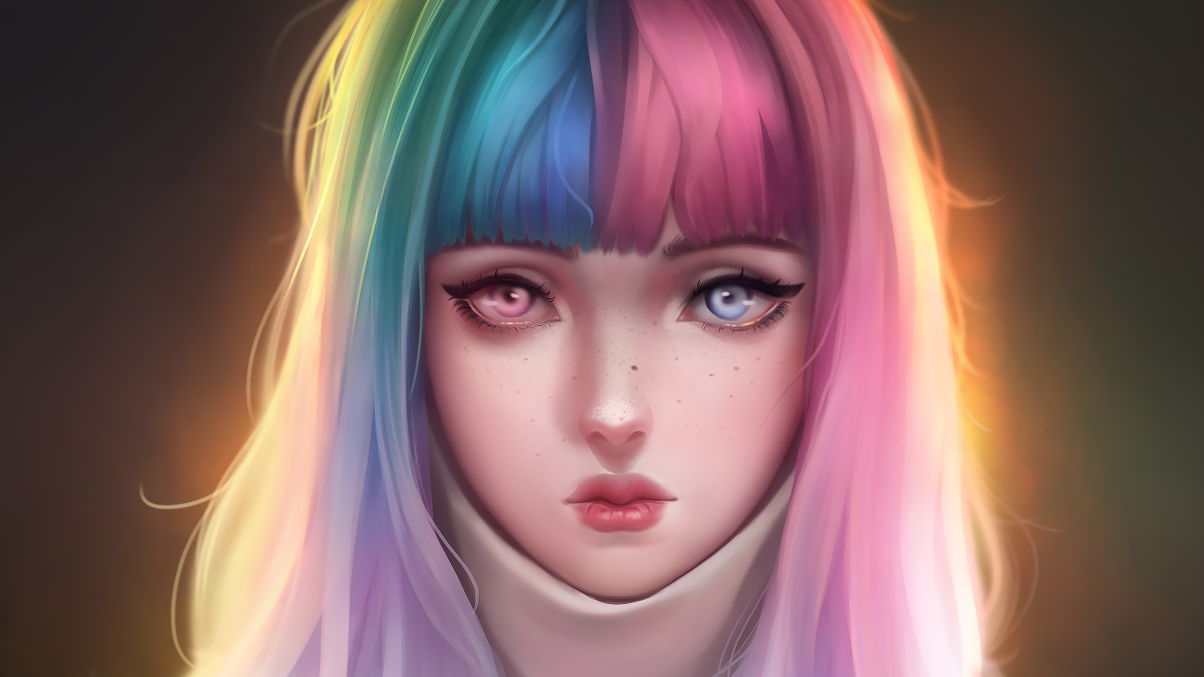anime girl colorful hairs 1578254415 - Anime Girl Colorful Hairs -
