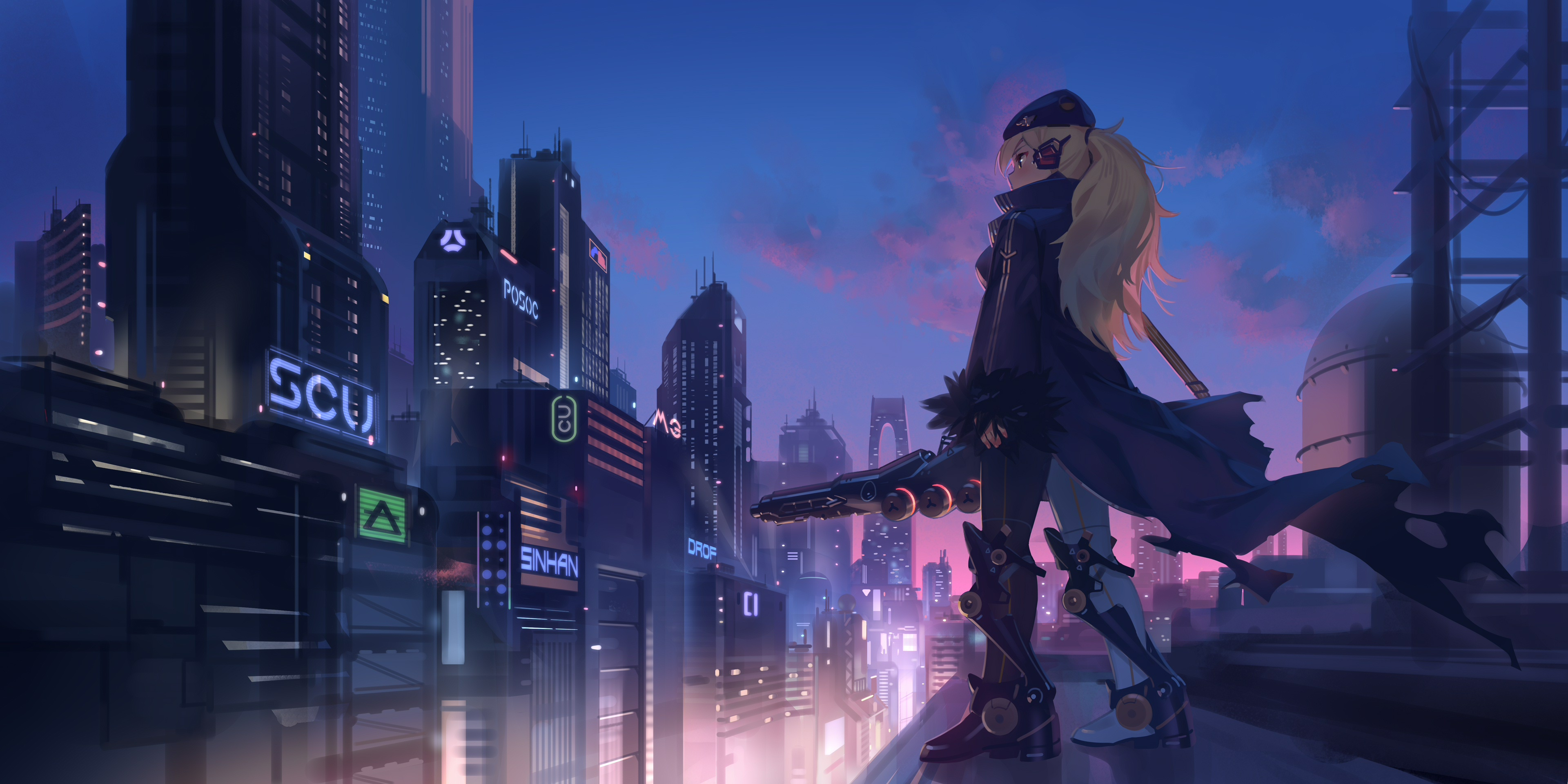 anime girl in city 1578254425 - Anime Girl In City -