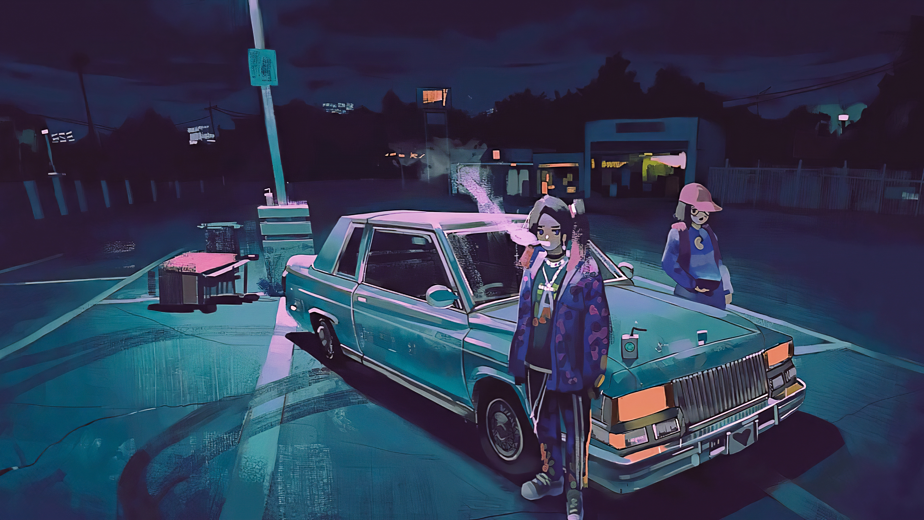 anime girl in parking lot 1578254421 - Anime Girl In Parking Lot -