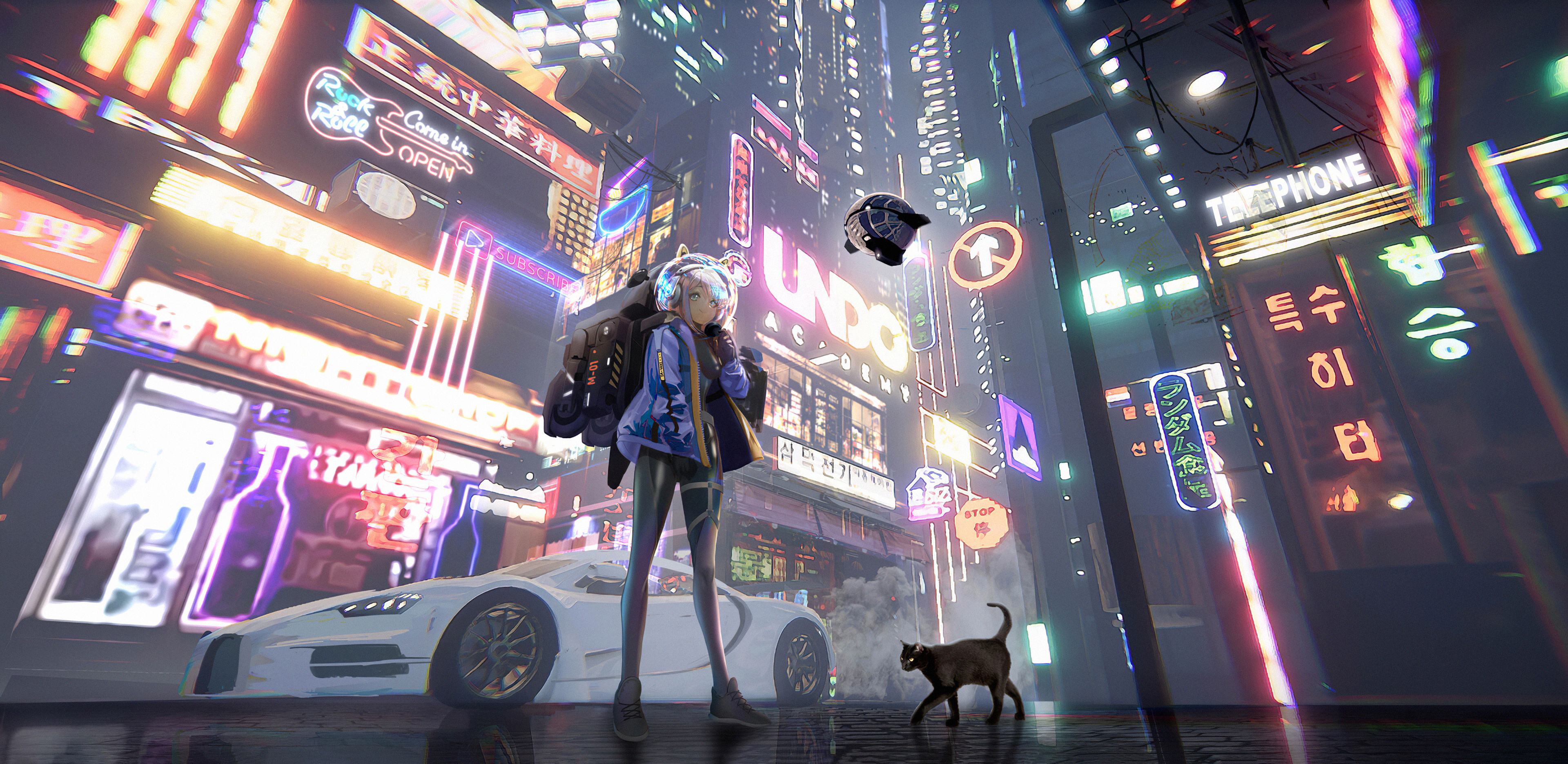 anime girl time in a city 1578254408 - Anime Girl Time In A City -