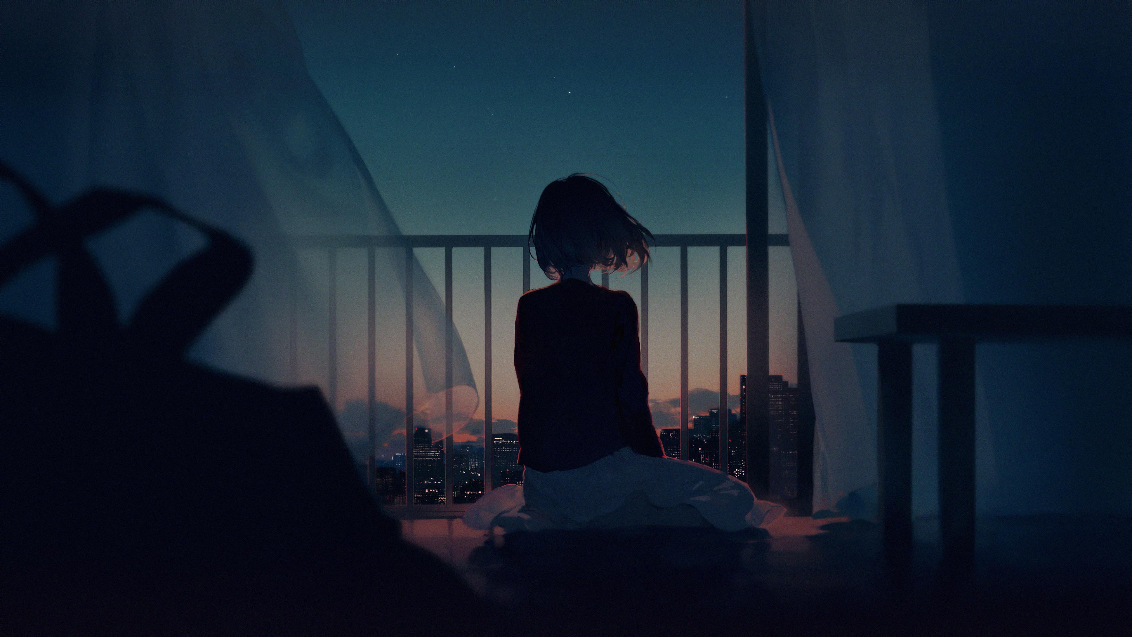 anime original girl looking away 1578254412 - Anime Original Girl Looking Away -