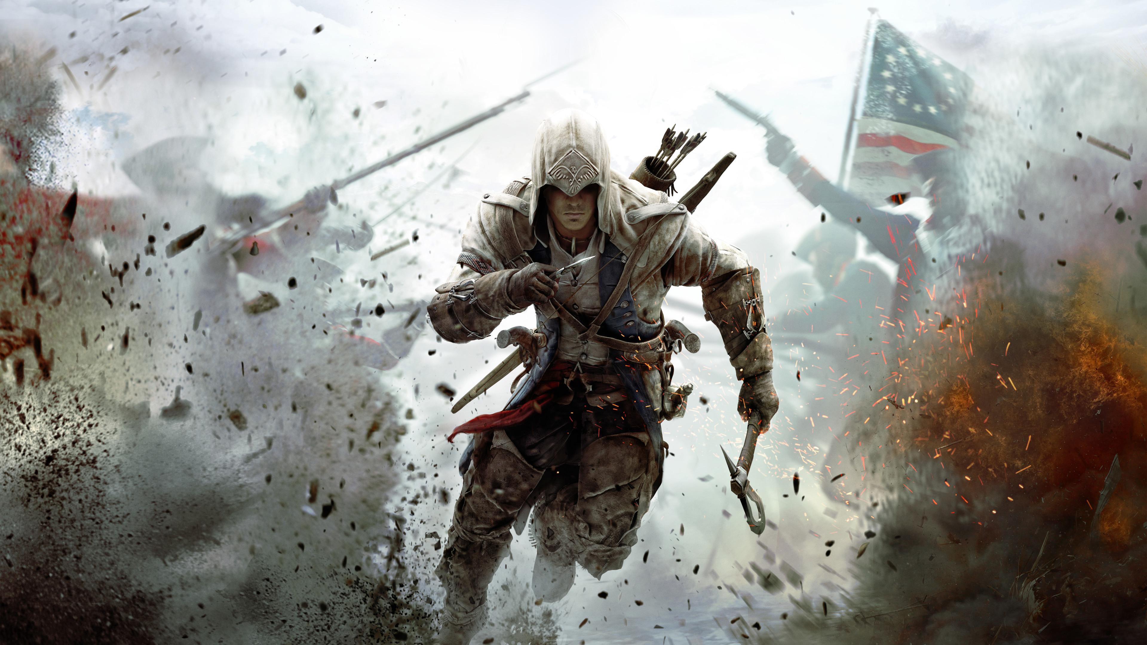 assassins creed 3 10k lk 3840x2160 1 - Assassins Creed 3 - Assassins Creed wallpapers 4k, Assassins Creed 3 4k wallpaper
