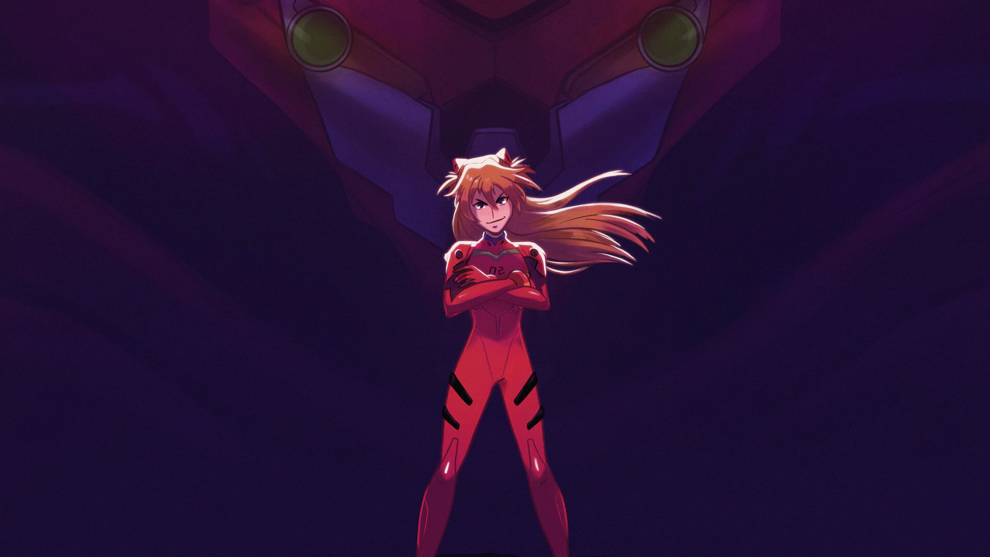 asuka and her unit 02 from evangelion 1578253813 - Asuka And Her Unit 02 From Evangelion -