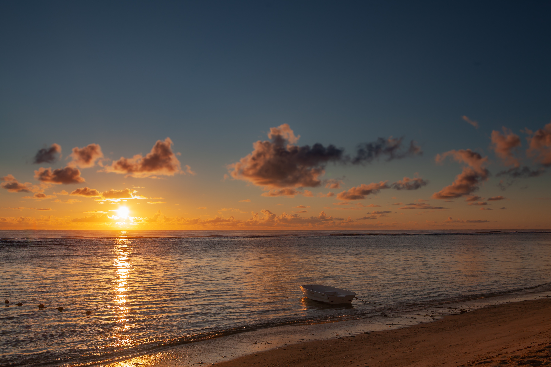 boat sea beach sunset 1579381018 - Boat Sea Beach Sunset - Boat Sea Beach Sunset wallpapers 4k, Boat Sea Beach Sunset 4k wallpapers