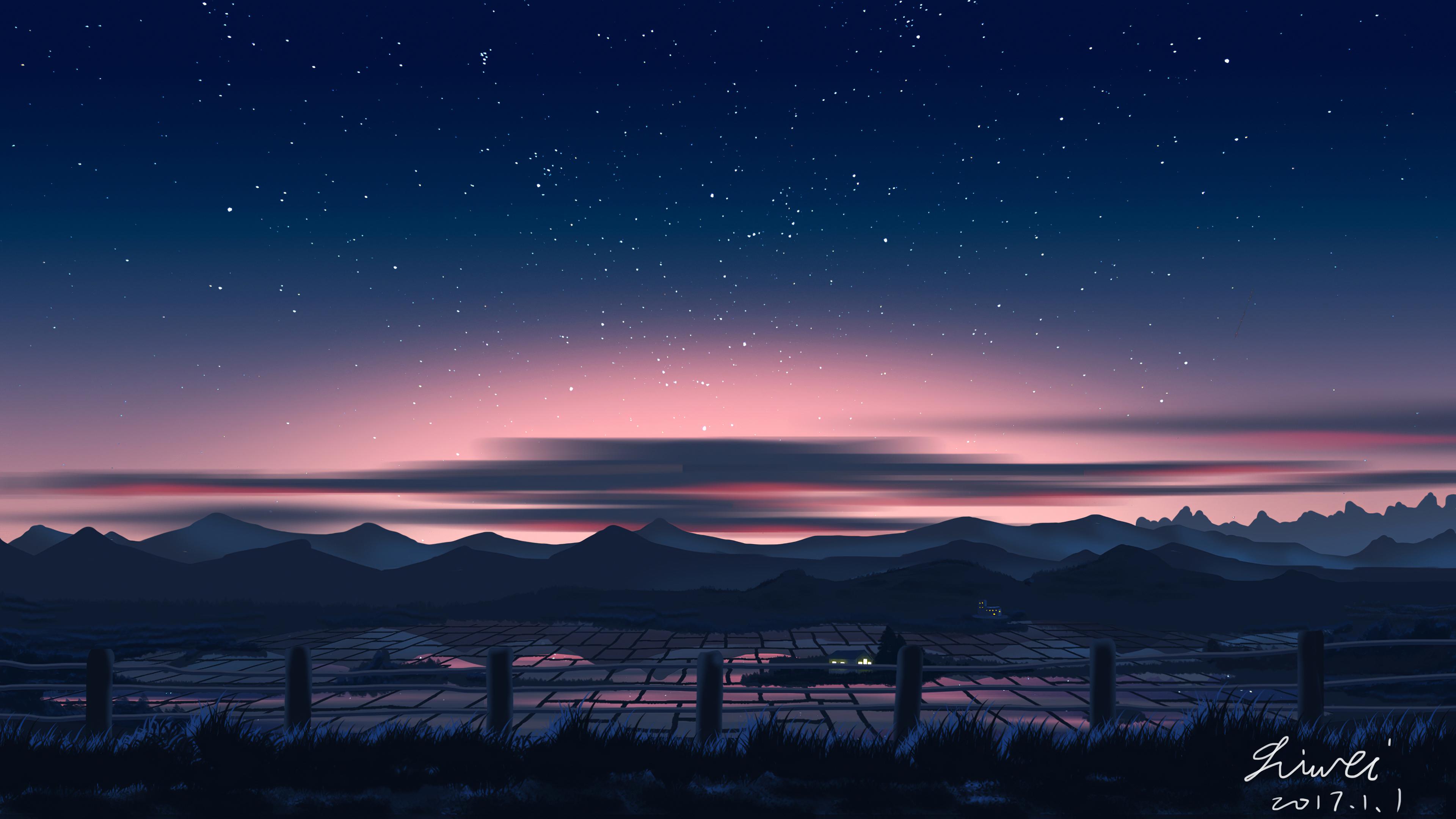country side starry sky 1578255385 - Country Side Starry Sky -