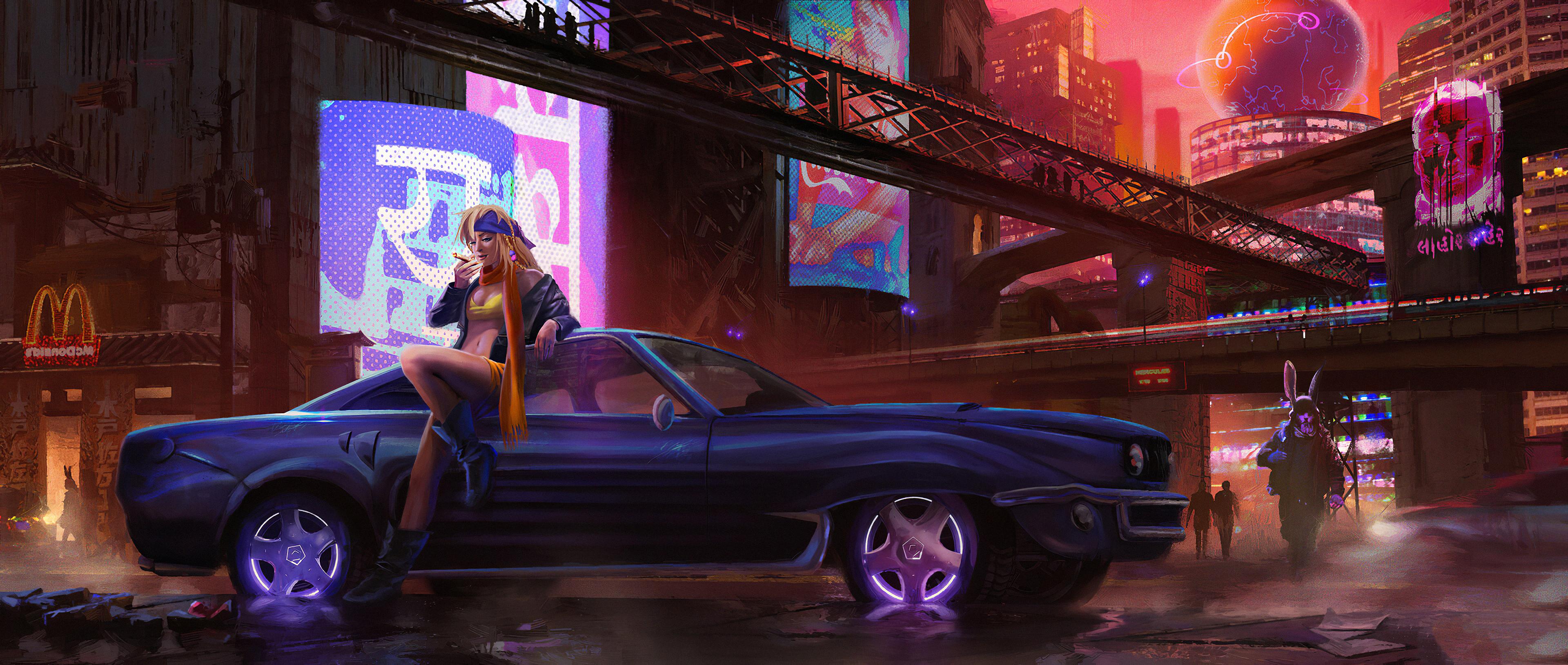 cyber city girl with car 1578255461 - Cyber City Girl With Car -