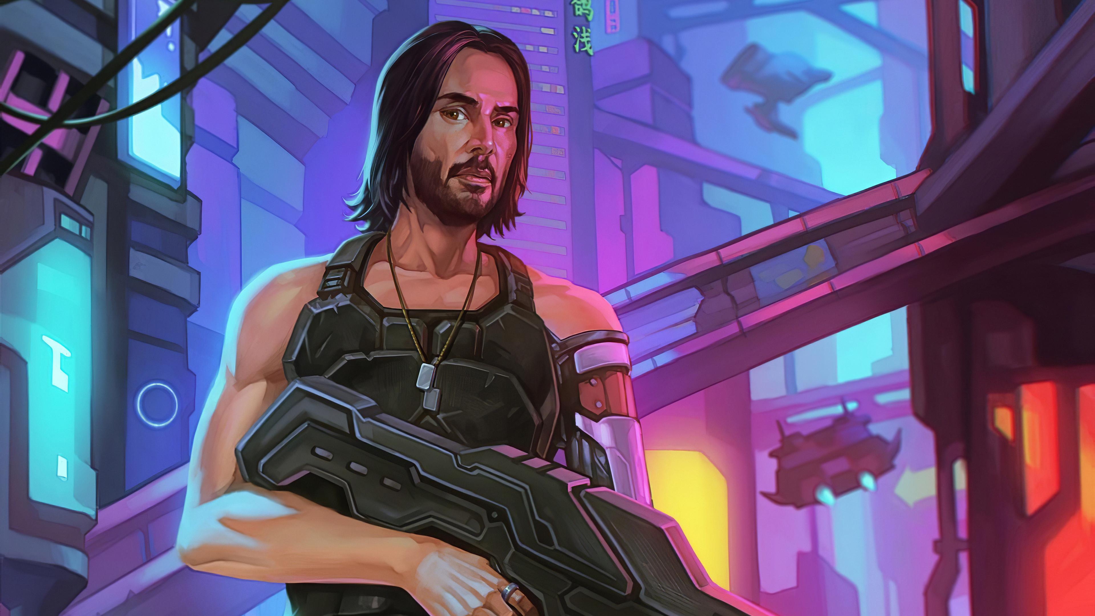 cyberpunk 2077 art 4k h7 3840x2160 1 - Cyberpunk 2077 Fan Art - Cyberpunk 2077 Fan Art 4k wallpaper
