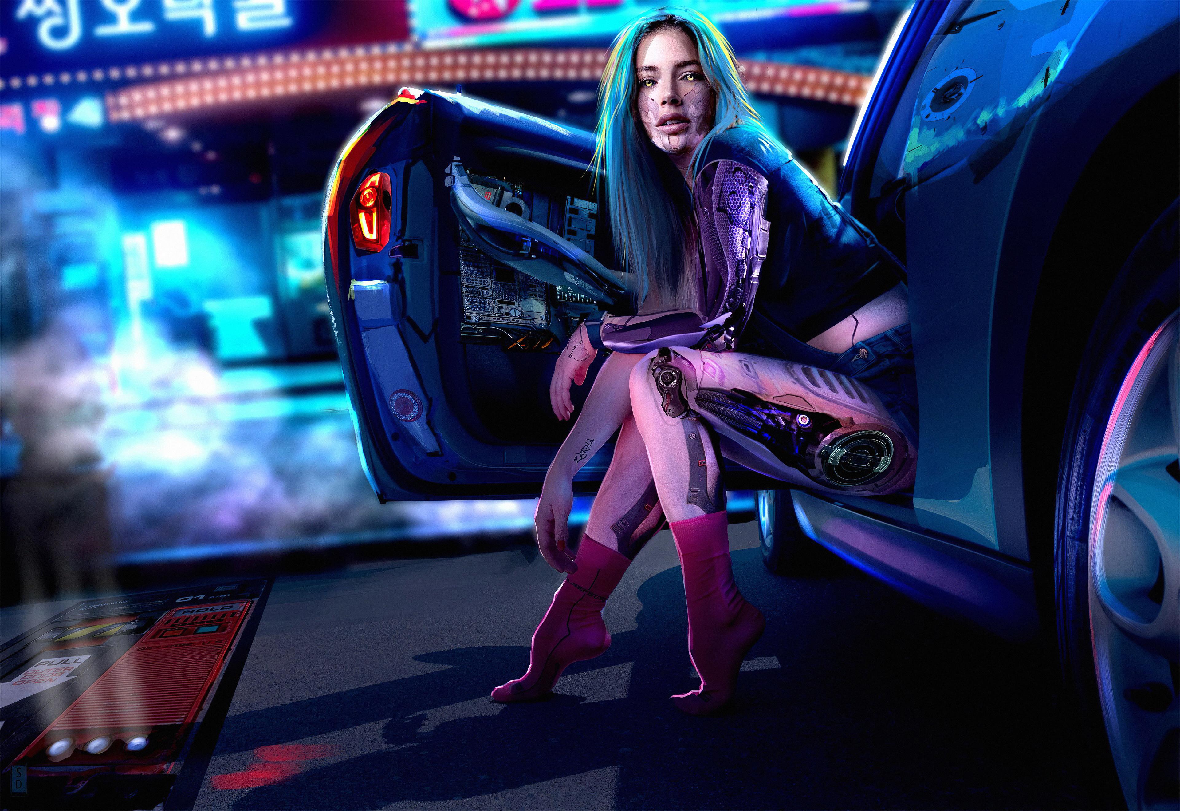 cyberpunk girl 1578254655 - Cyberpunk Girl -