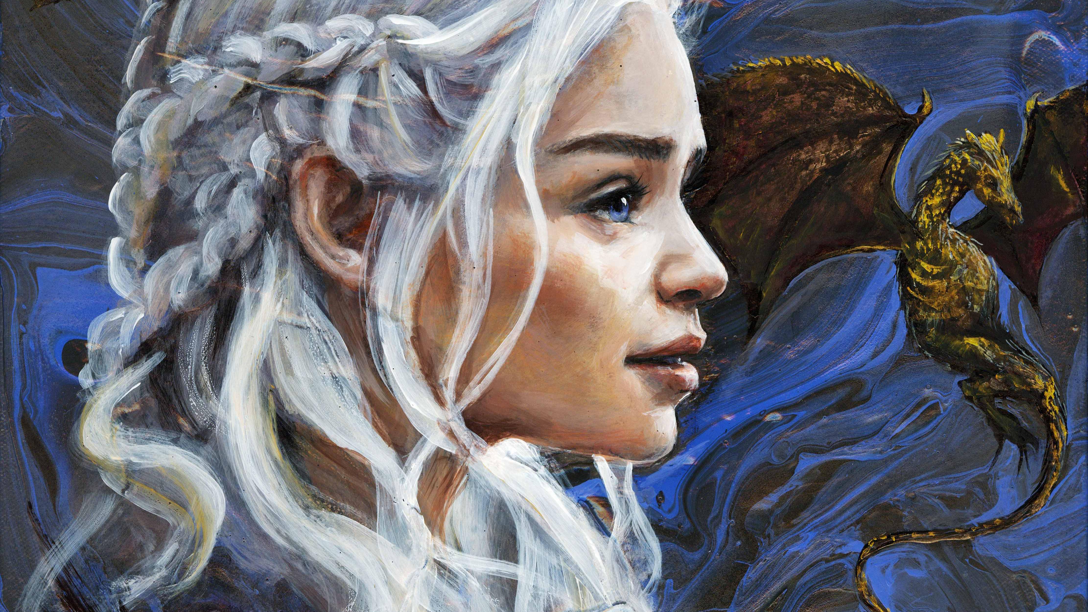 daenerys targayen artwork 5k 1577914855 - Daenerys Targayen Artwork 5k -
