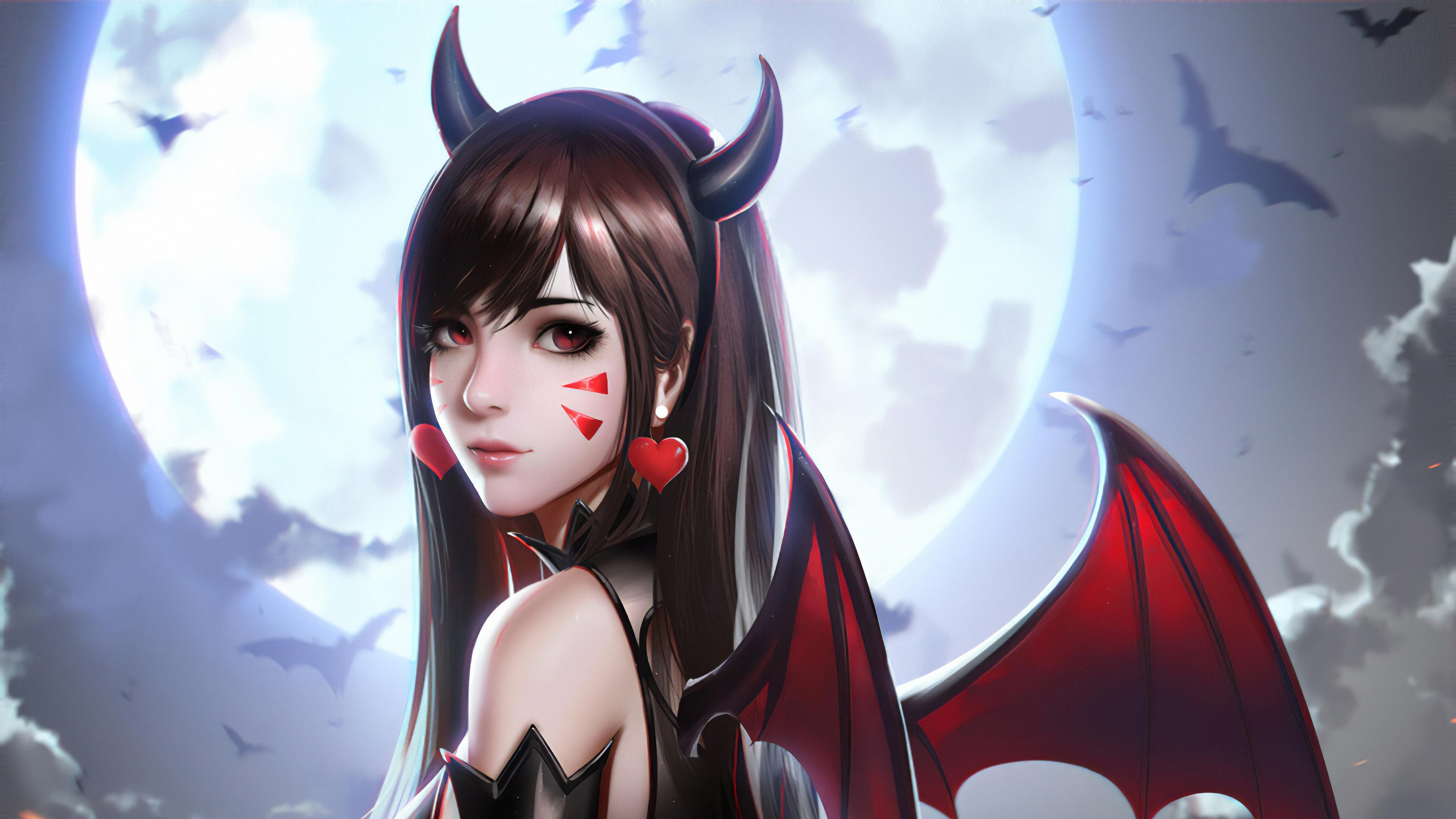 devil dva md 3840x2160 1 - Dva Devil Art -