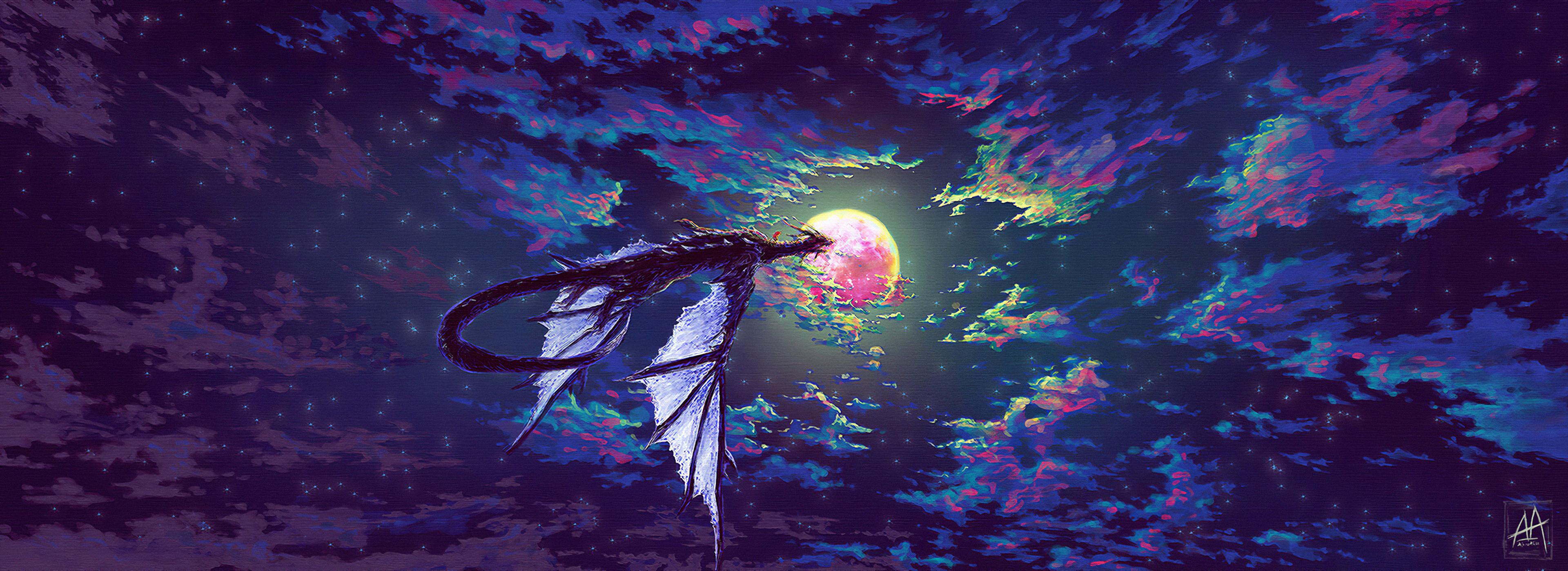 dragon towards parallel sky 1578254732 - Dragon Towards Parallel Sky -