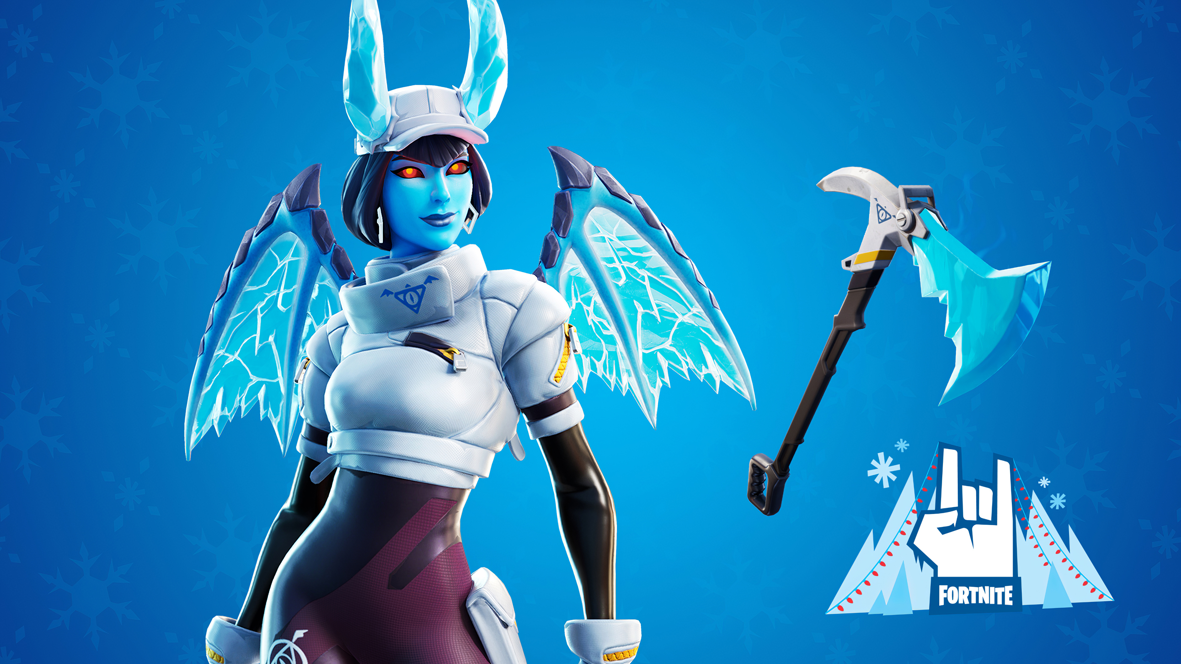 fortnite shiver outfit along with the frost blade pickaxe 1578854213 - Fortnite Shiver Outfit Along With The Frost Blade Pickaxe - Fortnite Shiver Outfit Along With The Frost Blade Pickaxe 4k wallpaper, Fortnite game wallpaper 4k