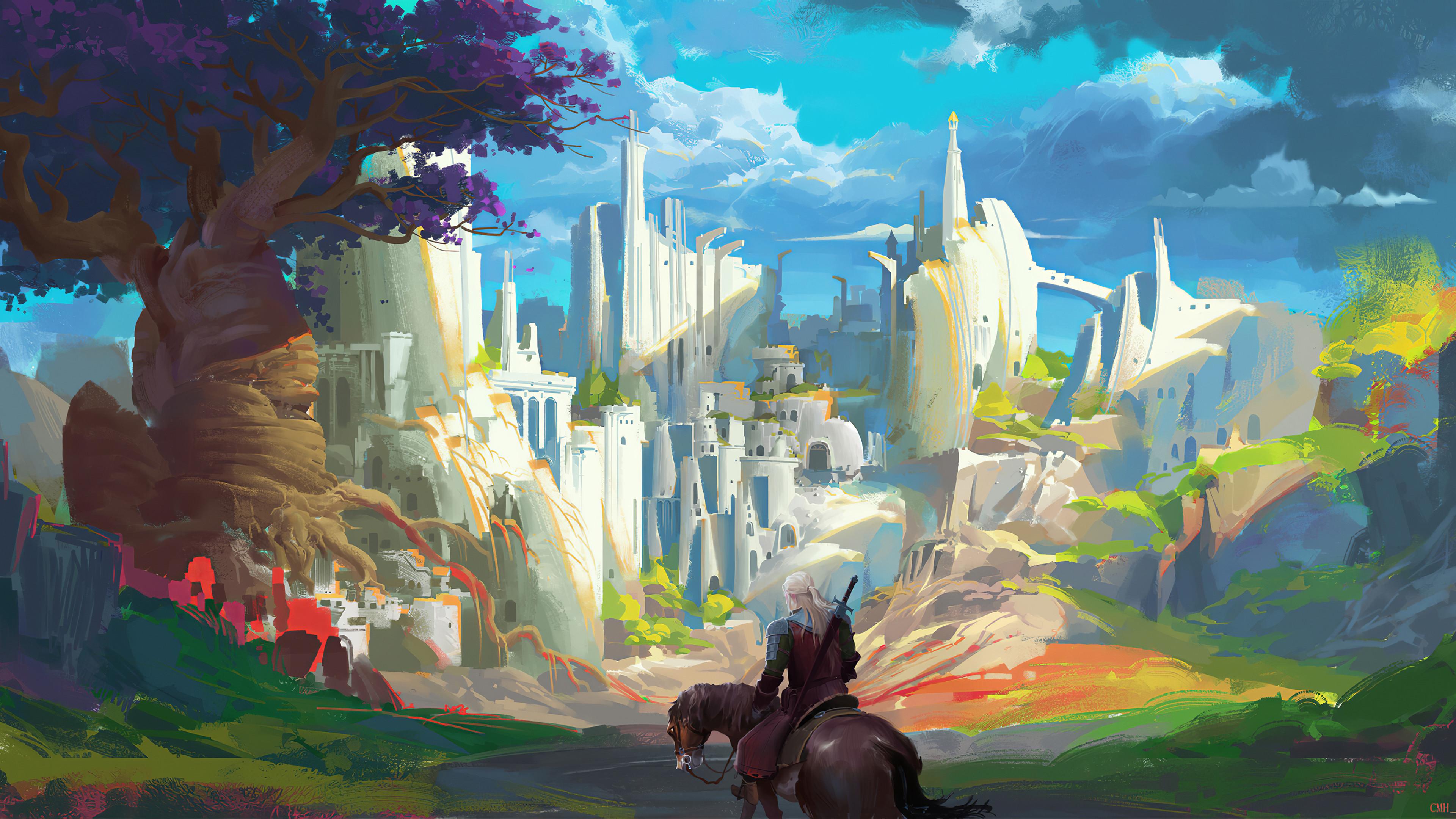 geralt of rivia the witcher 3 wild hunt 2019 4k tv 3840x2160 1 - Witcher 3 Wild Hunt : Geralt Of Rivia Art - Witcher 3 game art wallpaper 4k, Witcher 3 4k wallpaper