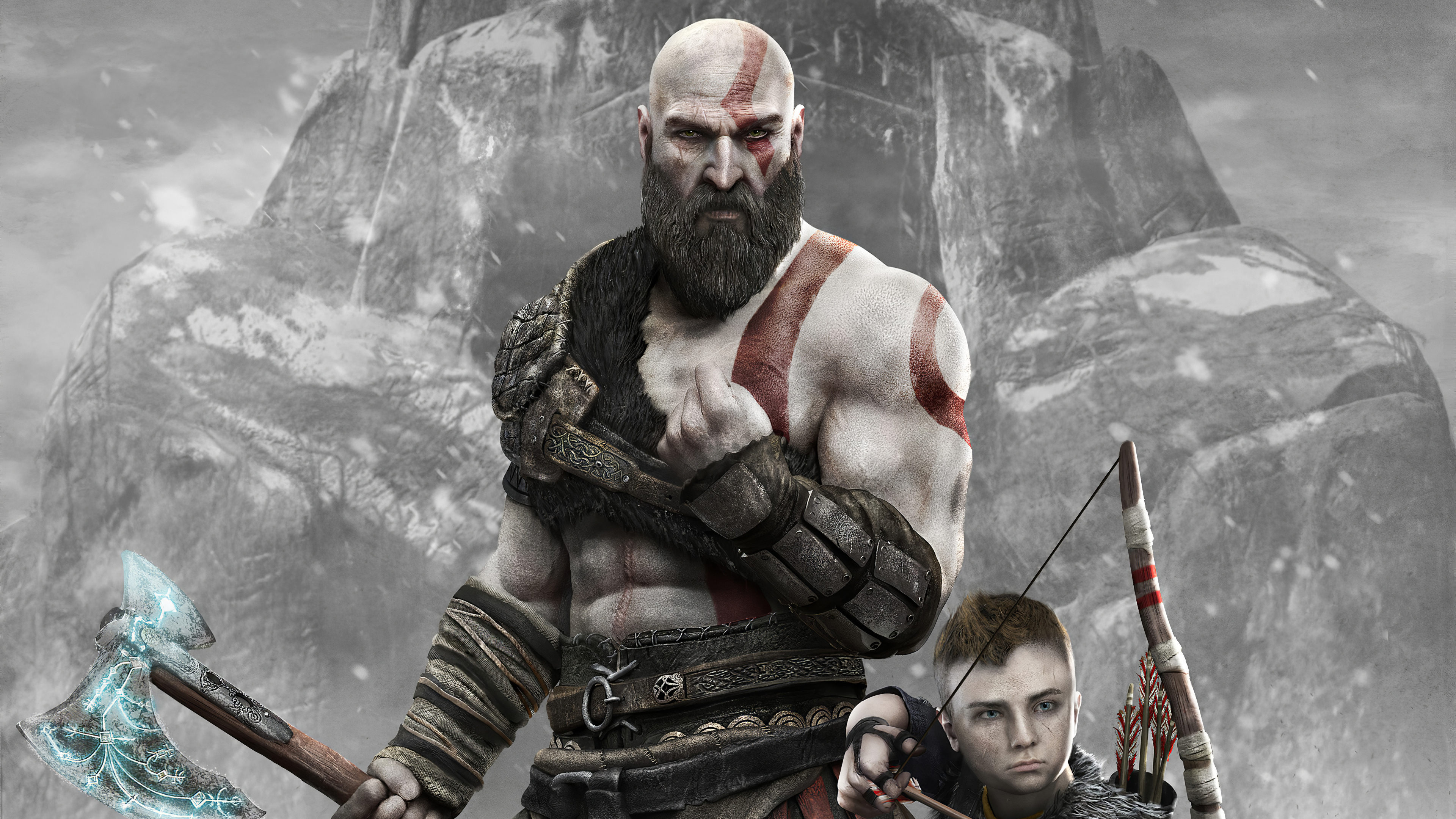 god of war 1578854644 - God Of War - God Of War kratos with boy wallpaper 4k, God Of War game wallpaper 4k, God Of War 4k wallpaper