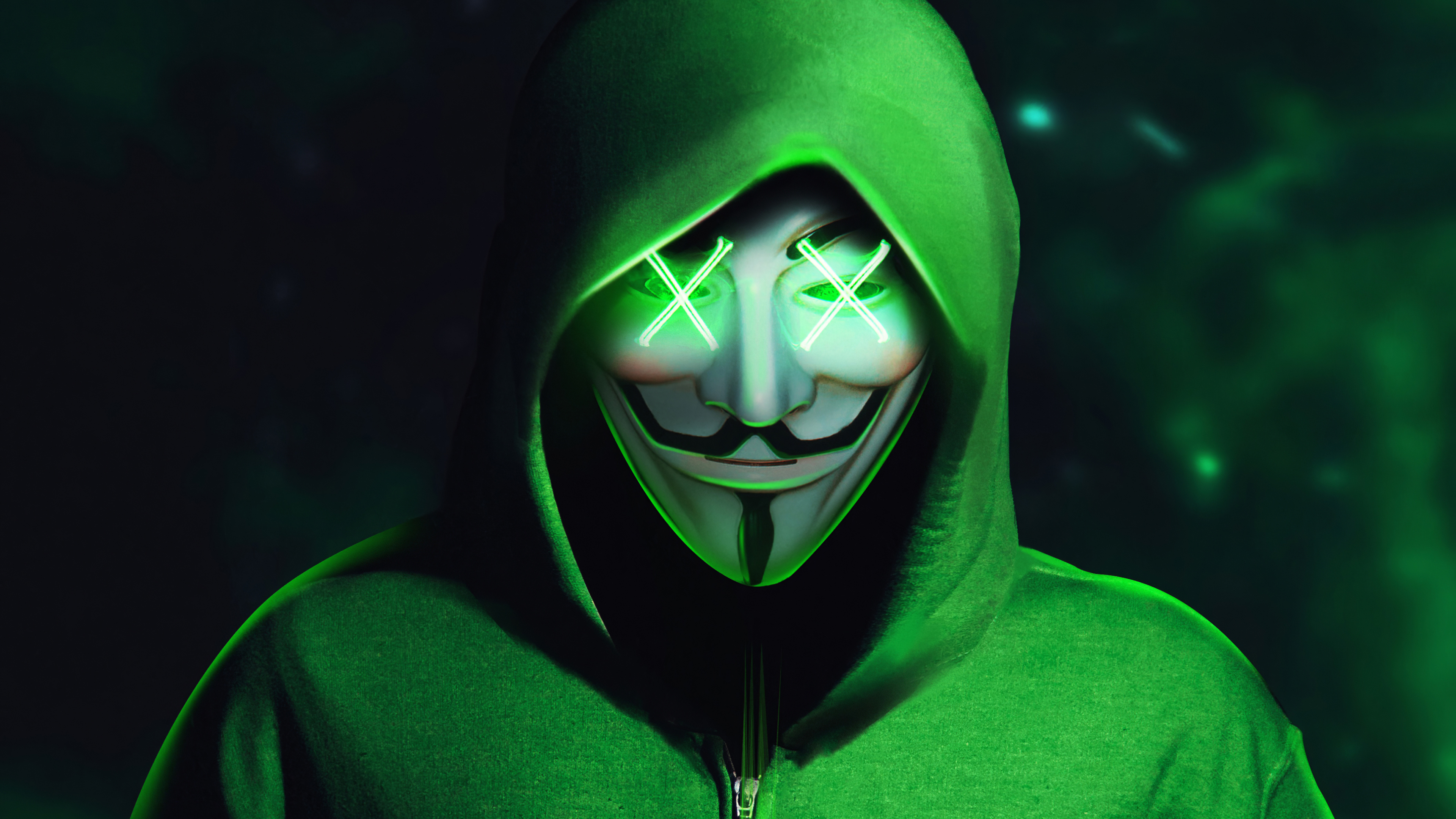 green hoodie anonymus mask 1580055627 - Green Hoodie Anonymus Mask -