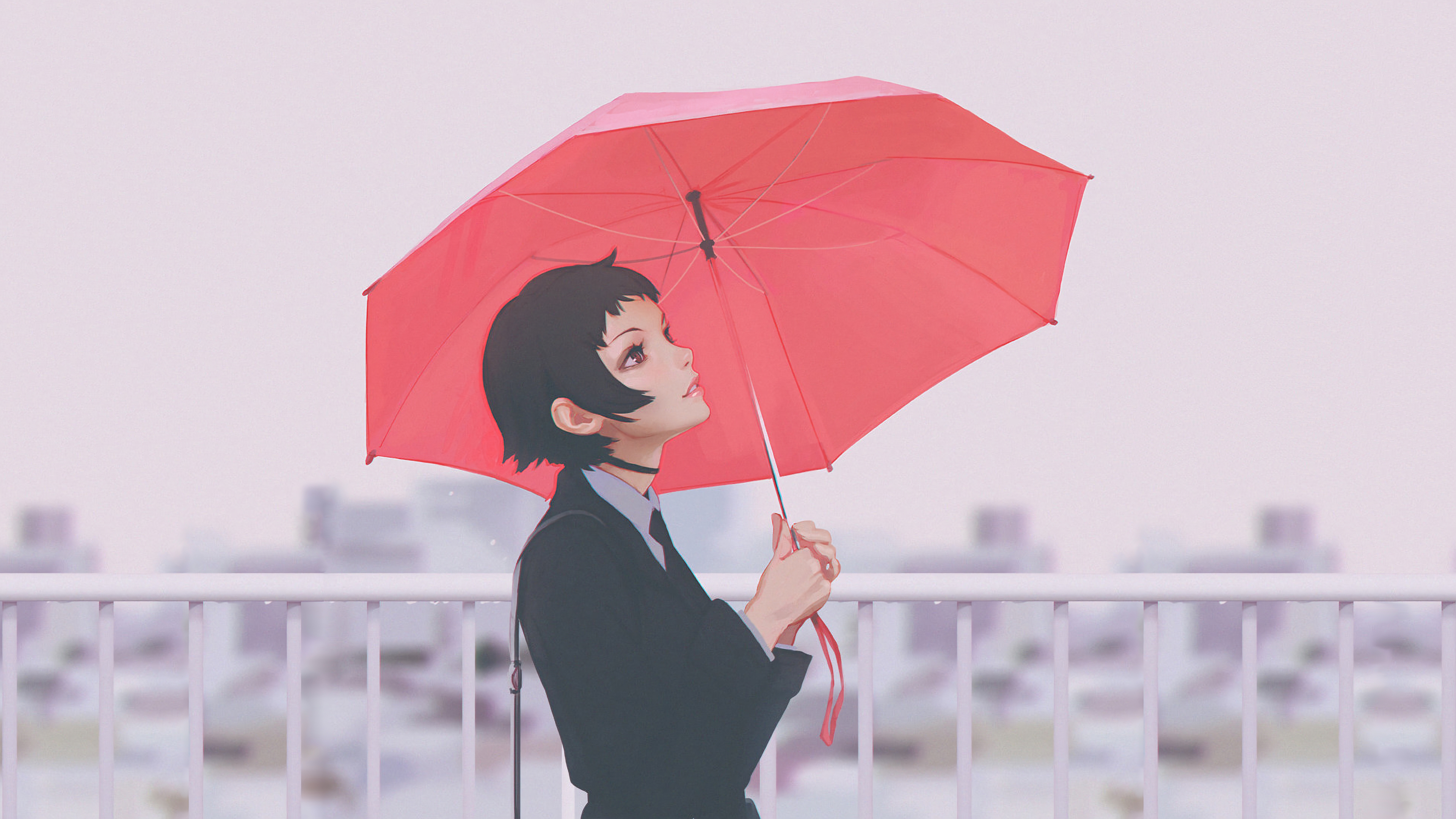 ilya kuvshinov anime girl with umbrella 1578253832 - Ilya Kuvshinov Anime Girl With Umbrella -