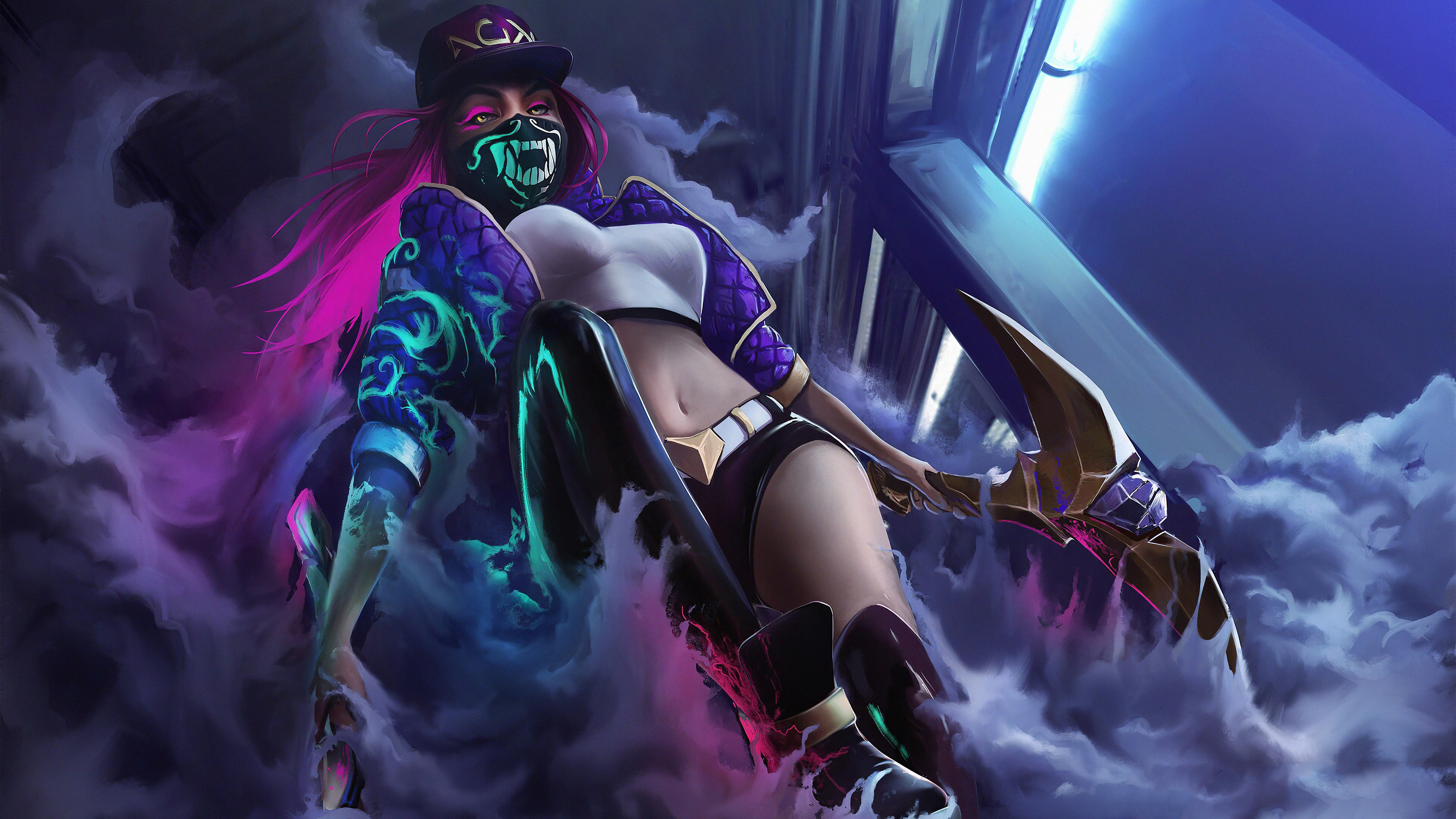 kda akali lolart 8o 3840x2160 1 - Kda Akali Lol - Kda Akali wallpapers, Kda Akali phone wallpapers, Kda Akali 4k wallpapers art