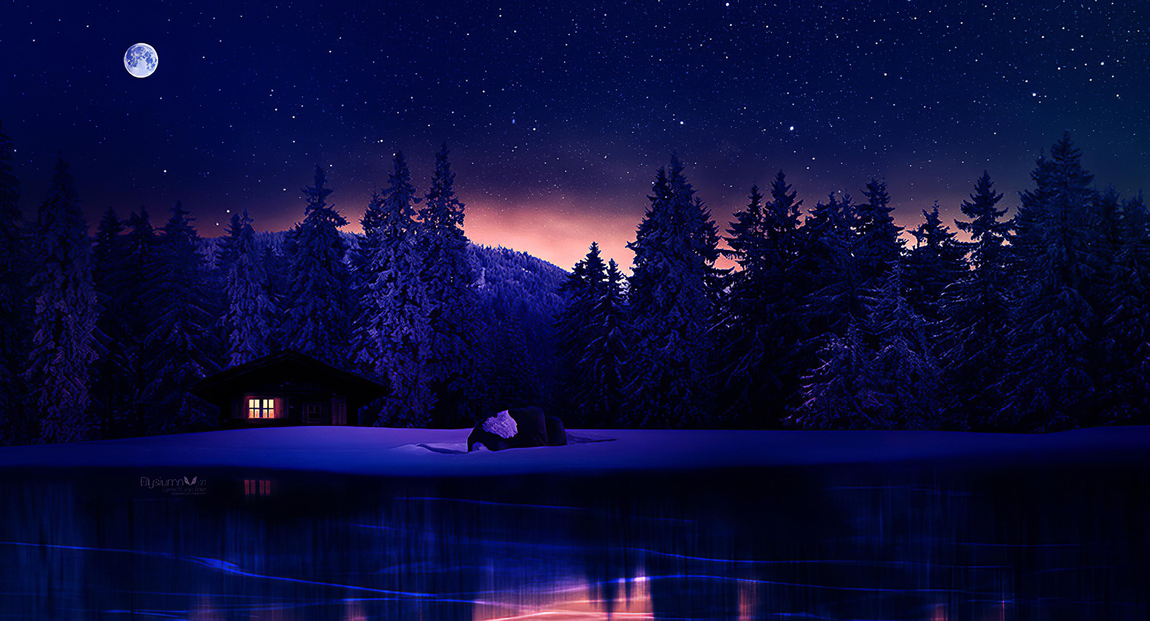 lake near house winter 1578254754 - Lake Near House Winter -