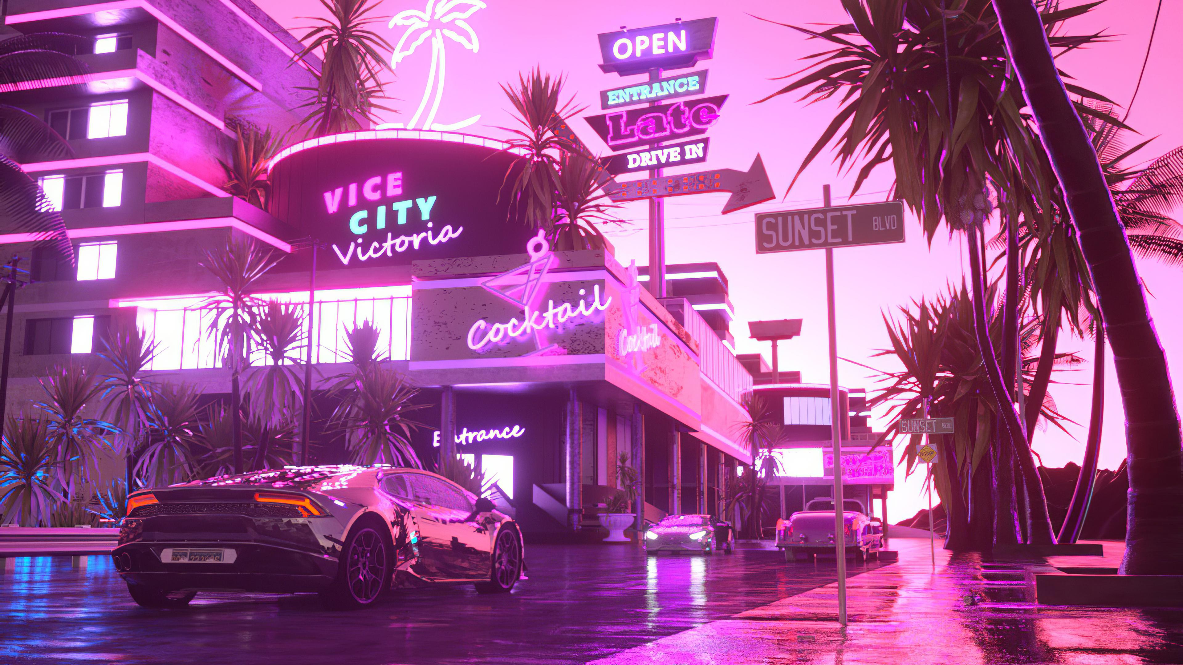 Lamborghini Victoria In Pink City