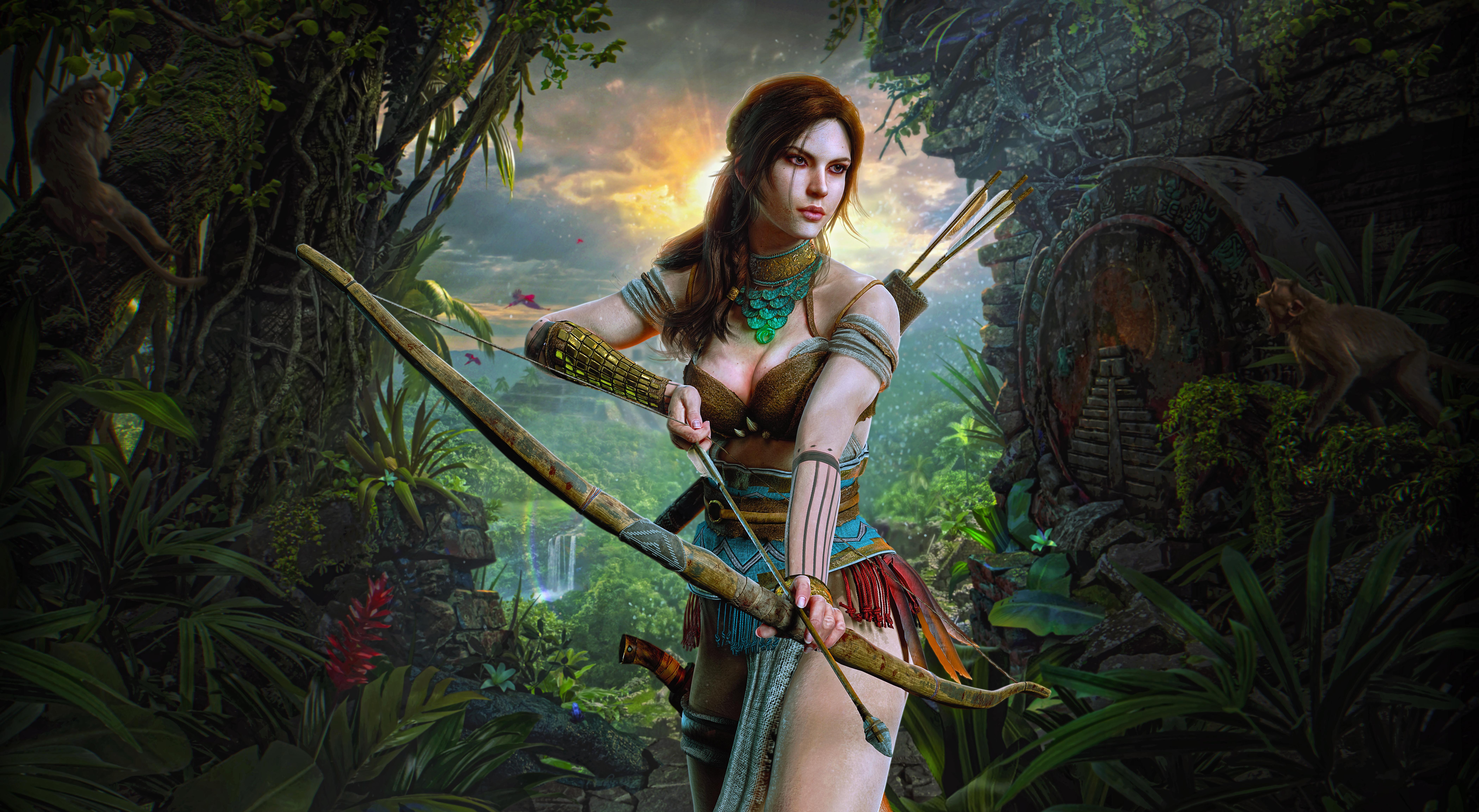 lara croft hunter girl 1578854608 - Lara Croft Hunter Girl - Lara Croft wallpaper 4k, Lara Croft Hunter Girl 4k wallpaper