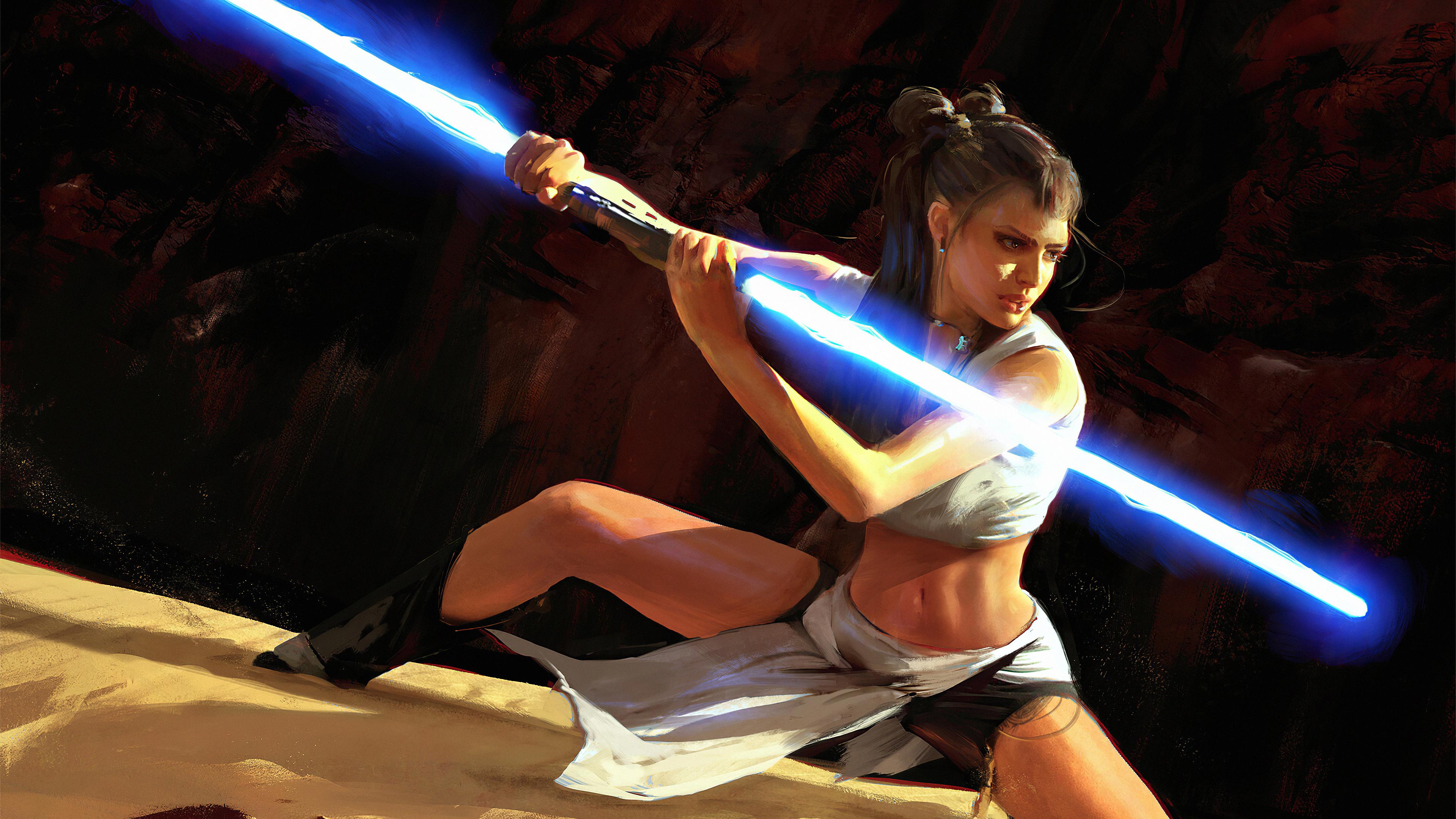 light saber girl 1578254805 - Light Saber Girl -