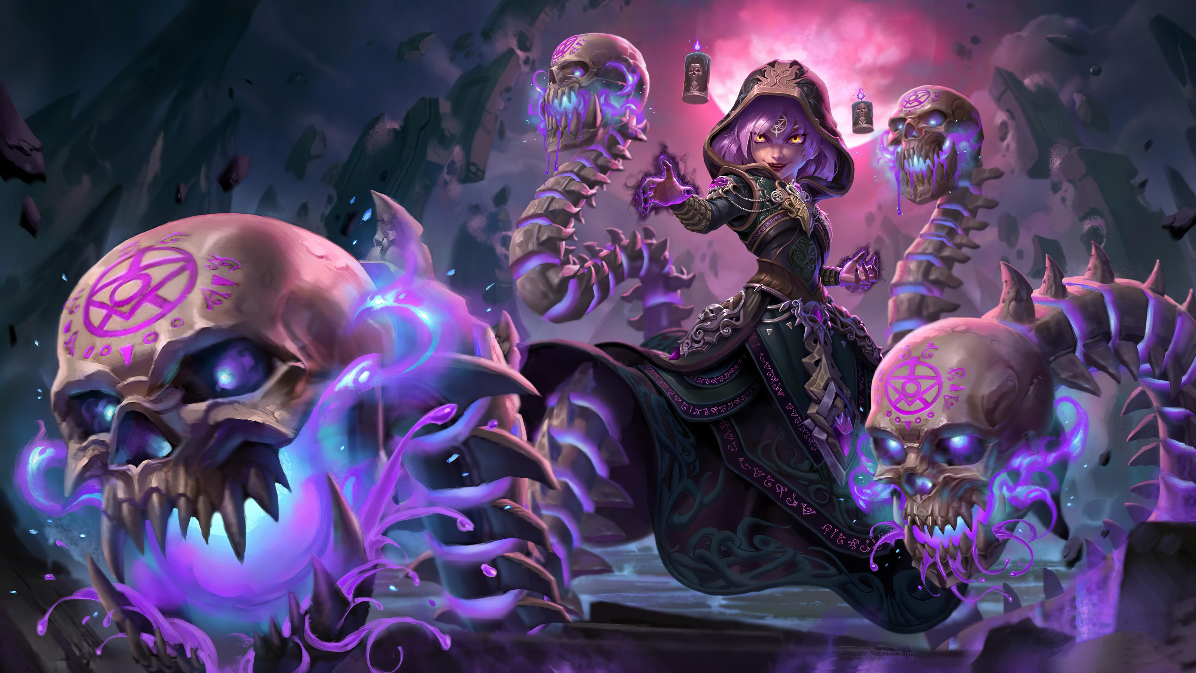 living death scylla smite 4k 4i 3840x2160 1 - Smite :Living Death Scylla - smite wallpapers 4k, Smite :Living Death Scylla 4k wallpapers