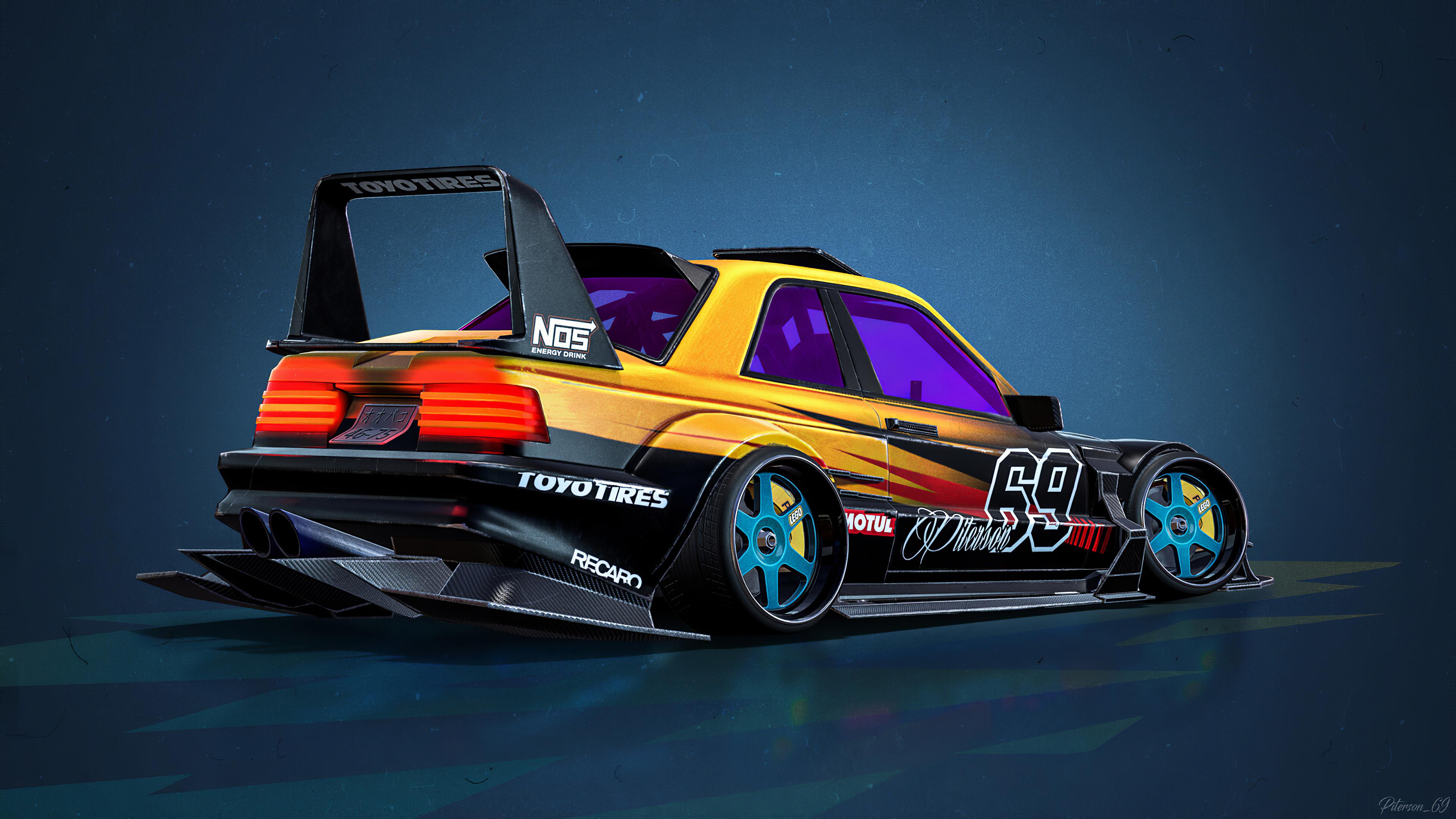 mercedes benz e190 evolution ii 1990 cartoon car 1578255367 - Mercedes Benz E190 Evolution II 1990 Cartoon Car -