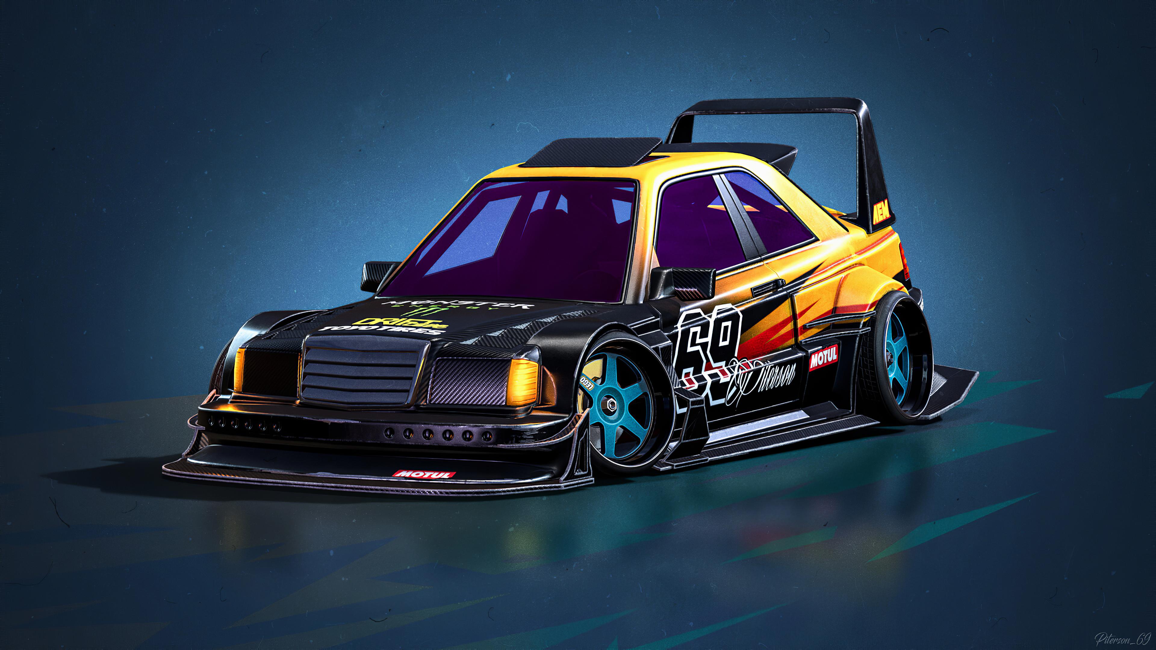 mercedes benz e190 evolution ii 1990 cartoon cars 1578255361 - Mercedes Benz E190 Evolution II 1990 Cartoon Cars -