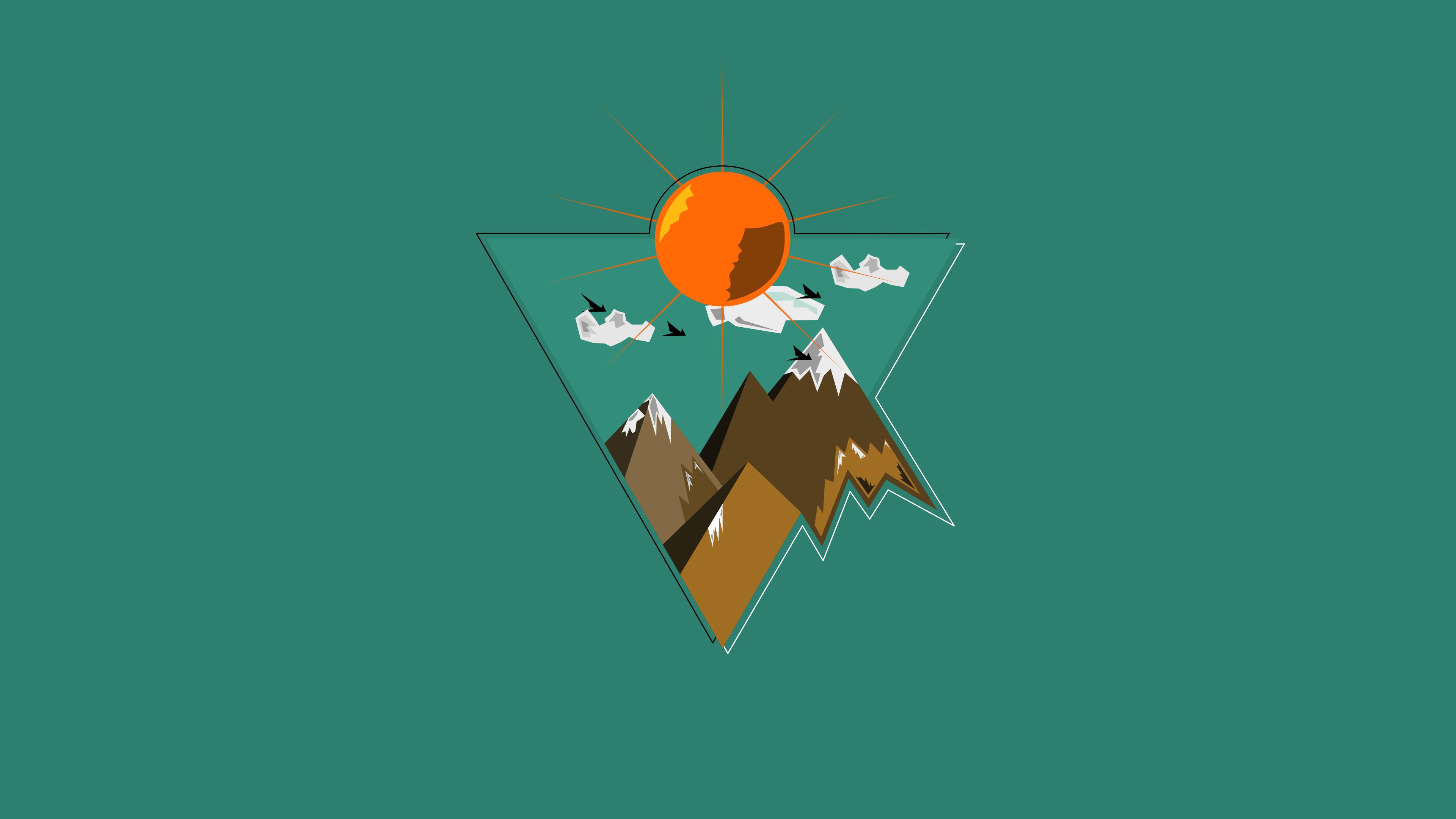 mountains sunset minimal triangle 1578254983 - Mountains Sunset Minimal Triangle -