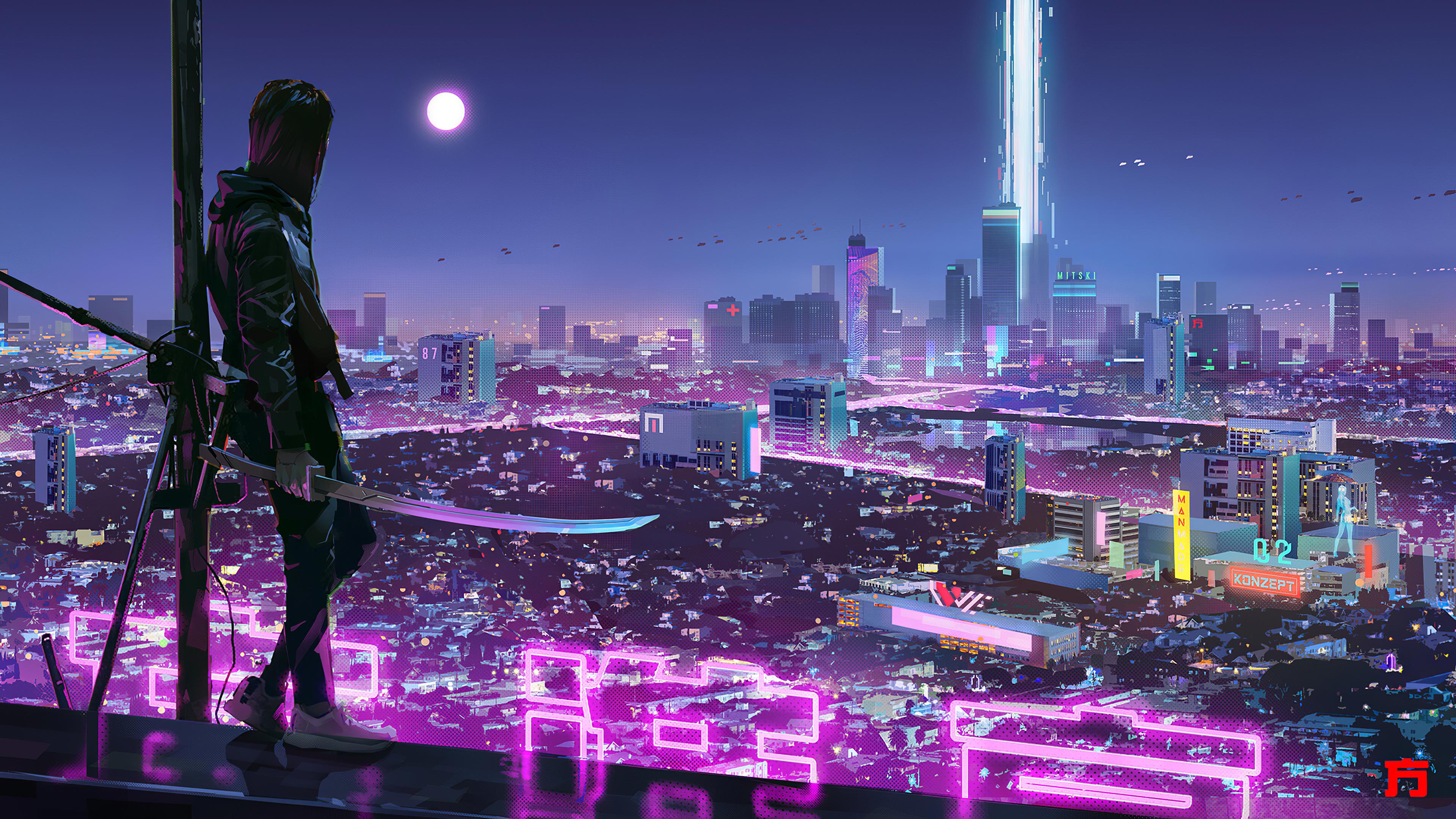 neon lights cyber ninja boy 1580055629 - Neon Lights Cyber Ninja Boy -