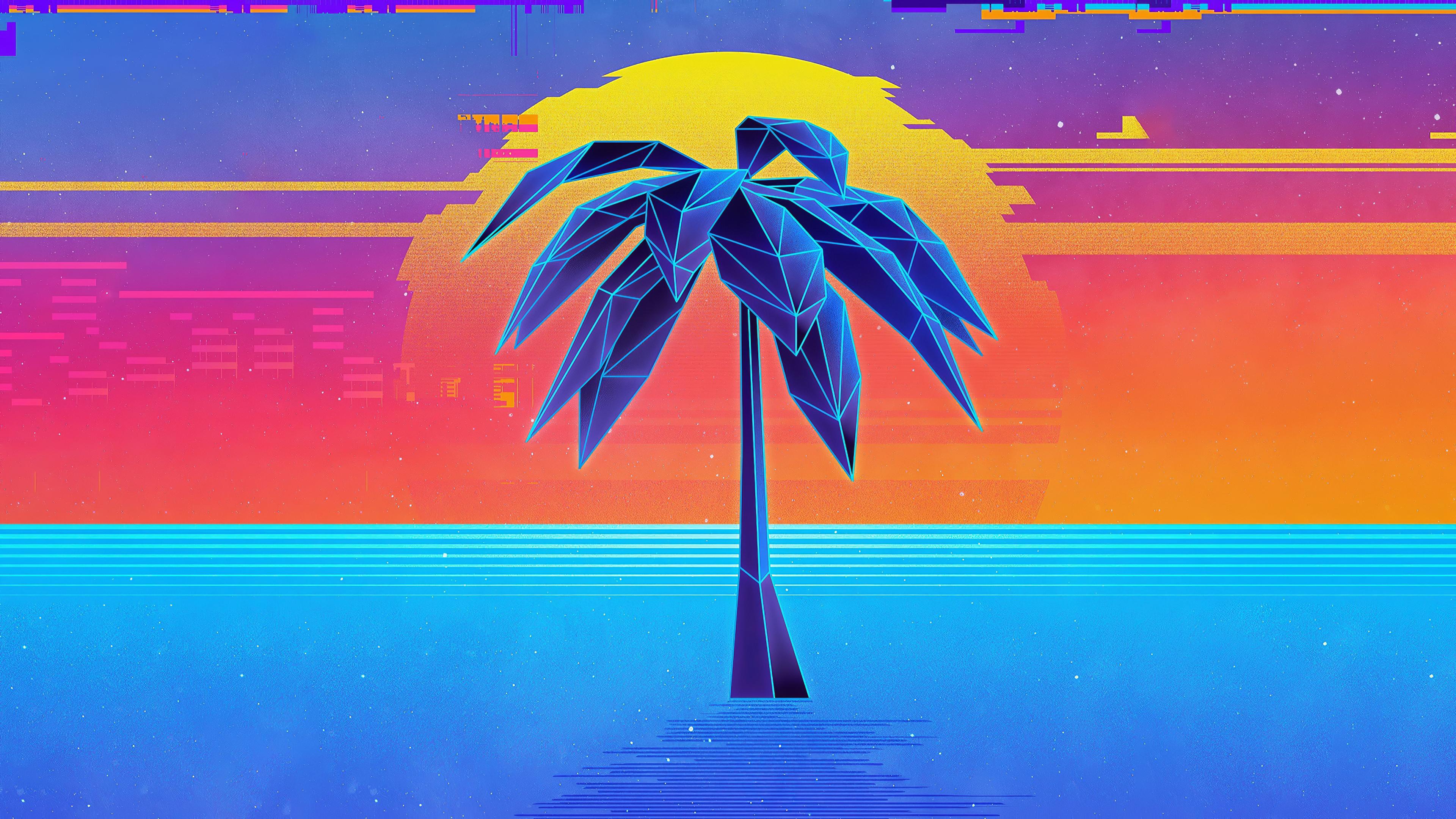 palm tree retro synthwave 1578254740 - Palm Tree Retro Synthwave -