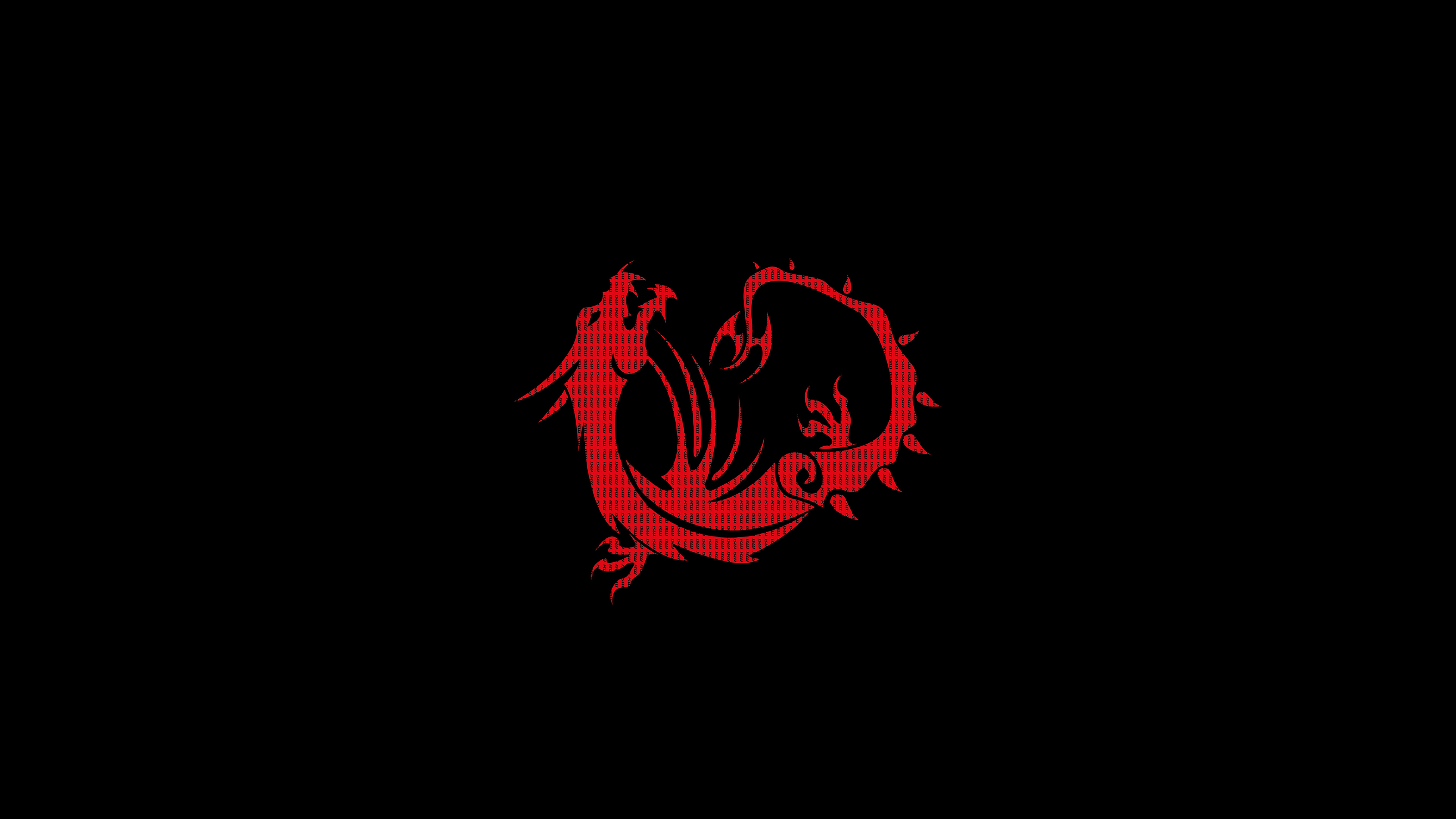 red dragon black minimal 1578255451 - Red Dragon Black Minimal -