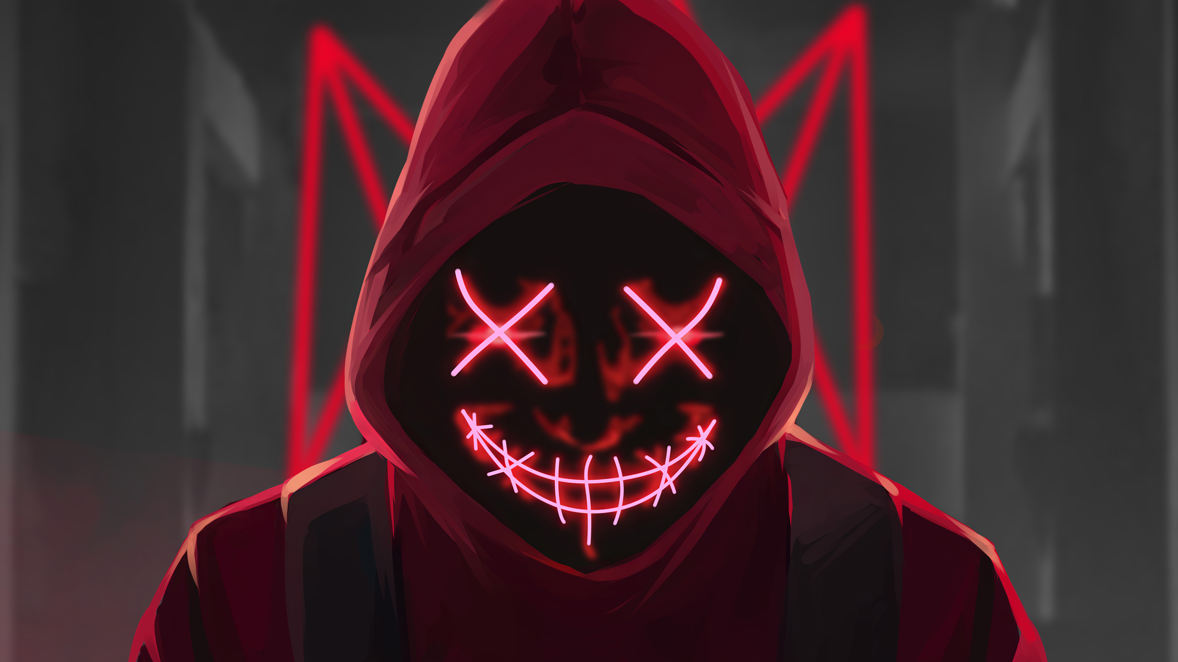 red mask neon eyes 1580055609 - Red Mask Neon Eyes -