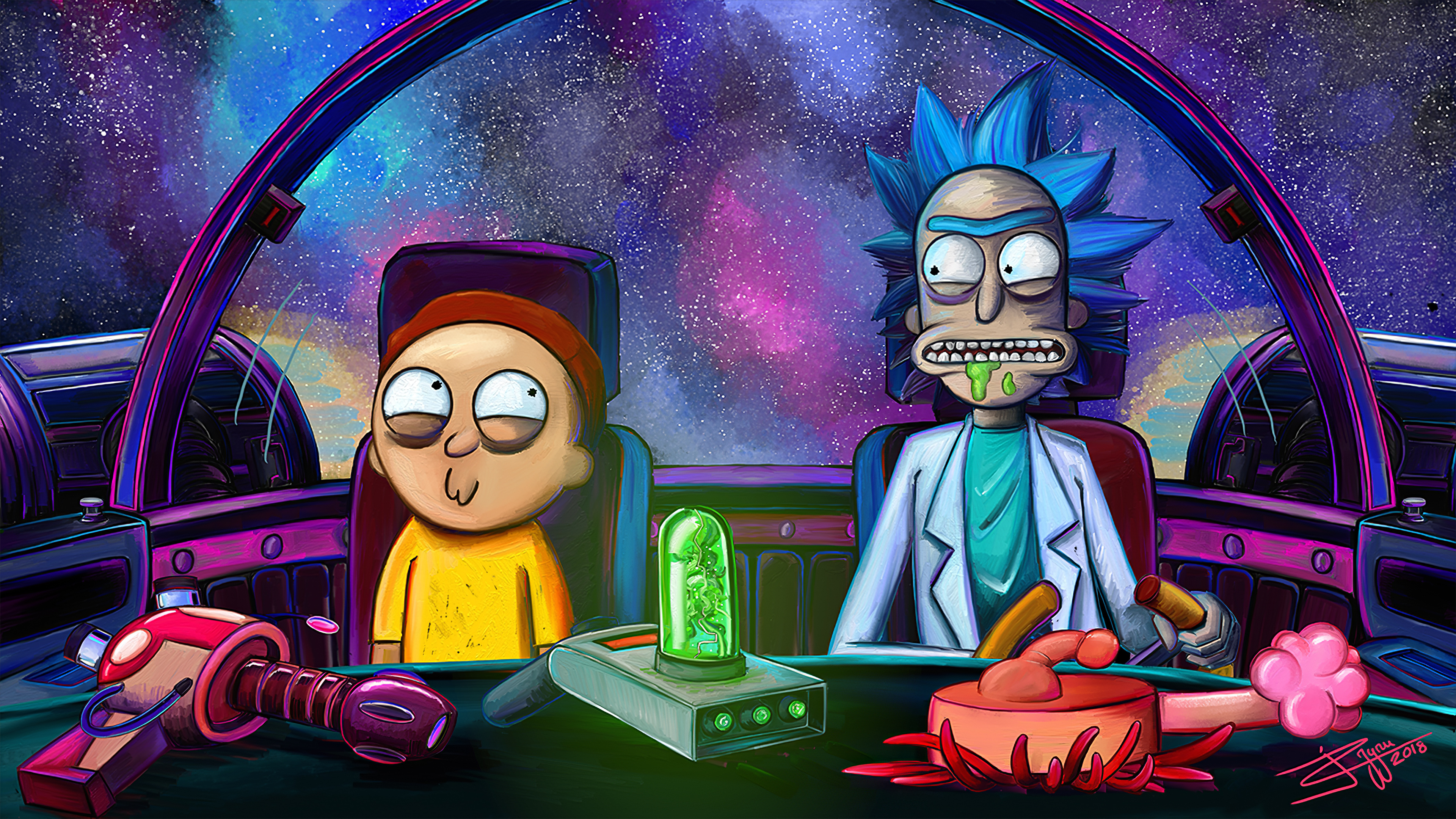 Wallpaper 4k Rick And Morty Netflix Rick And Morty Netflix 4k