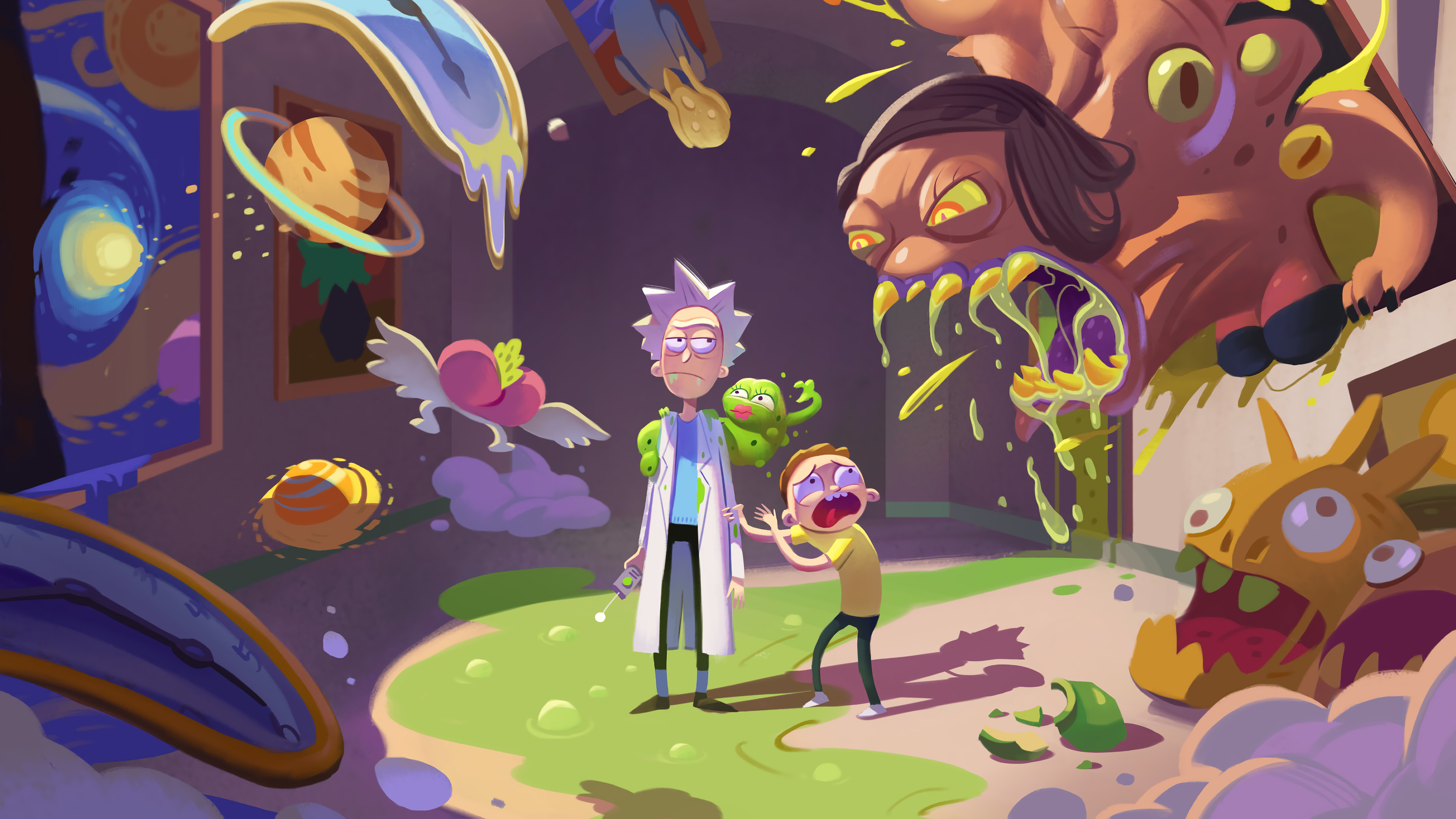 Wallpaper 4k Rick And Morty Season 4 Rick And Morty 4k Wallpaper