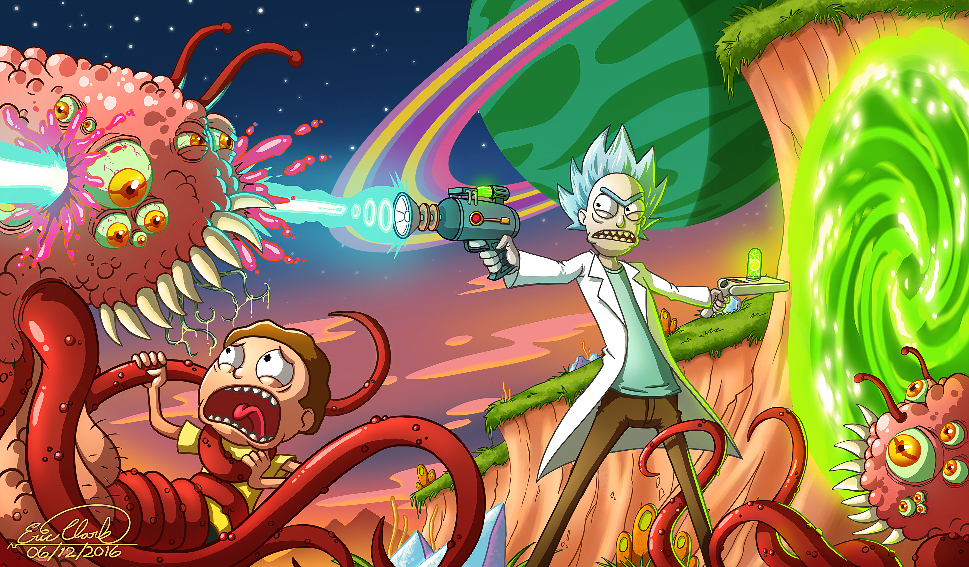 Wallpaper 4k Rick And Morty Smith Adventures Rick And Morty 4k